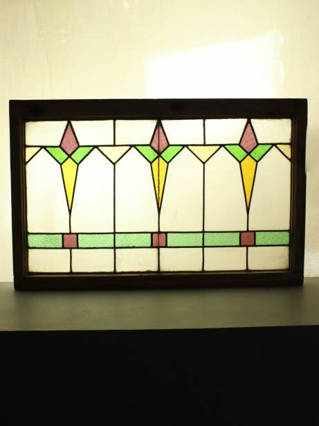 Art deco stained glass window renew gallery for Art deco glass windows