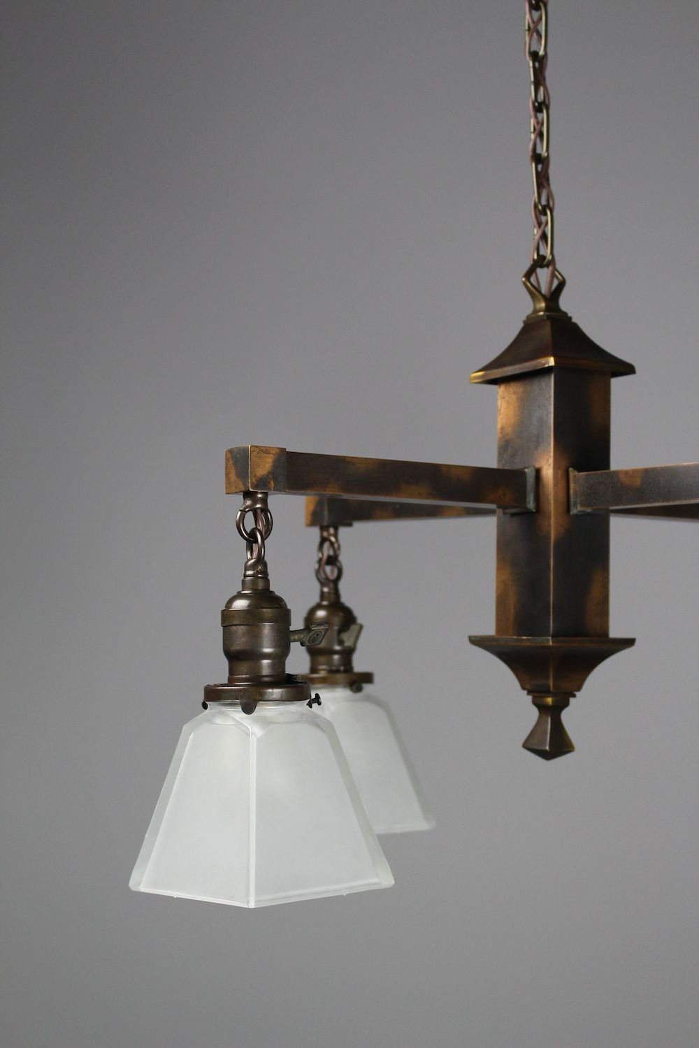 Mission Fixture 4 Light With Japanned Finish Renew