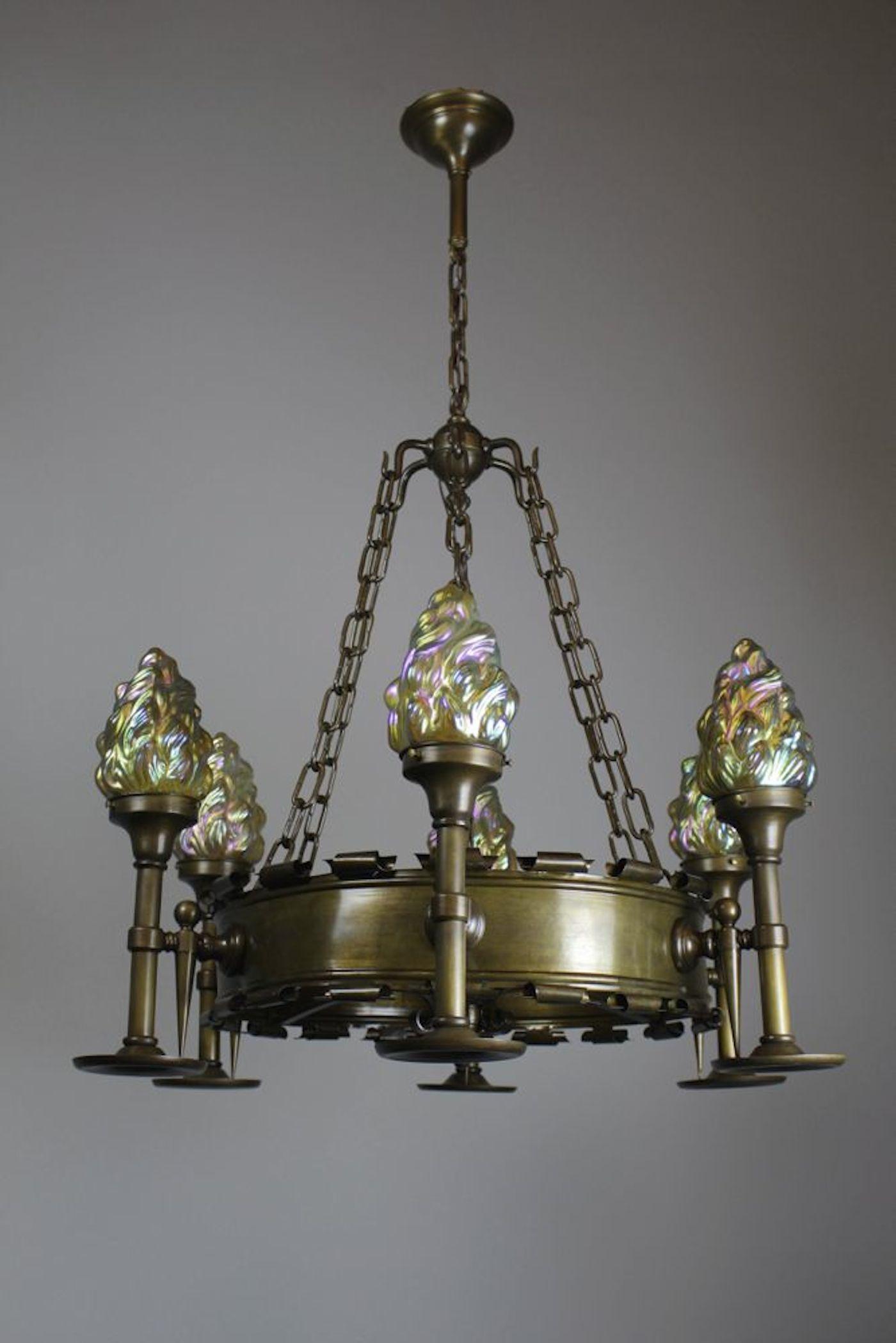 Early Tudor Revival Ring Fixture 6 Light Renew Gallery