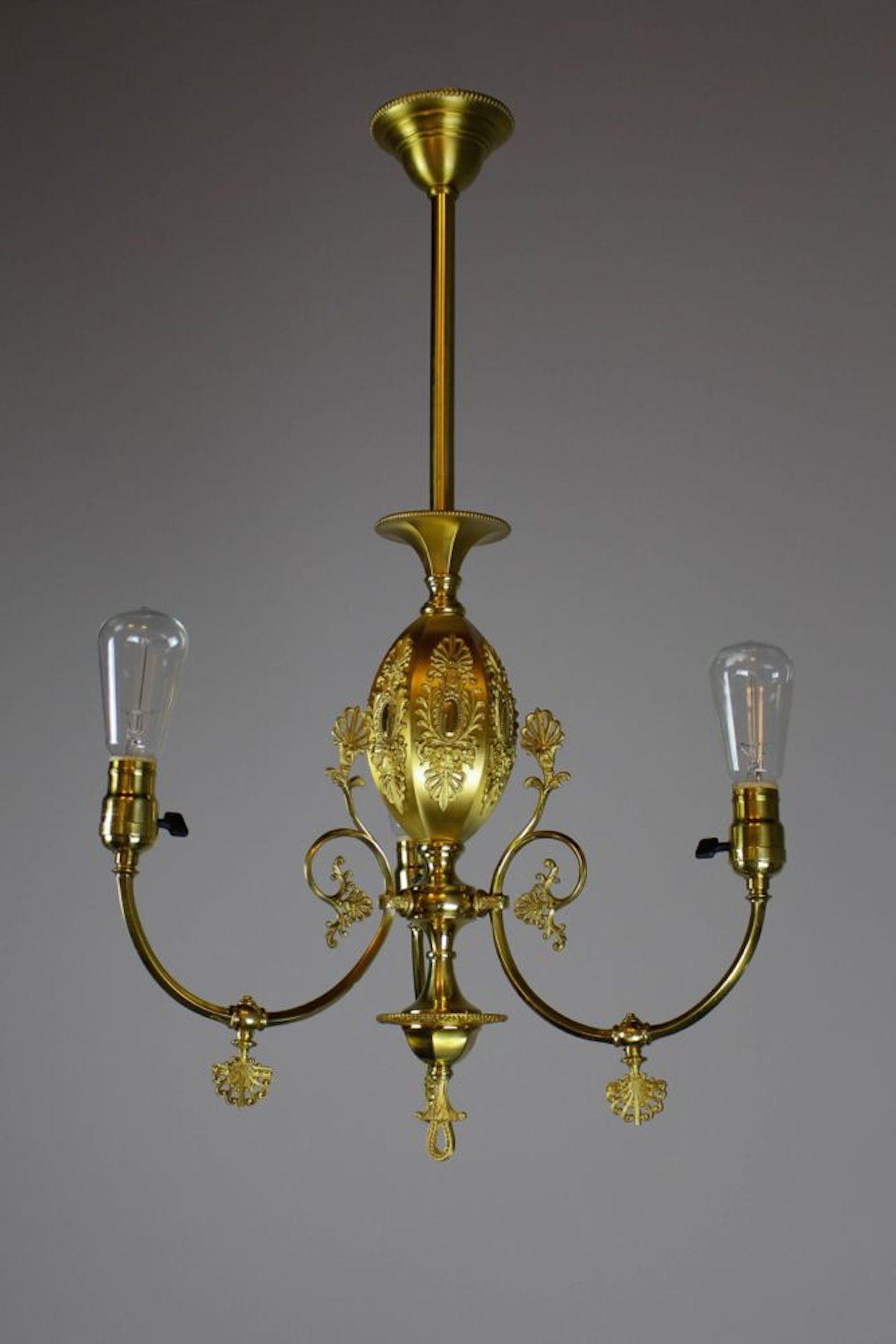 R williamson co chicago decorative victorian converted gas fixture 3 light renew gallery - Decorative light fixtures ...
