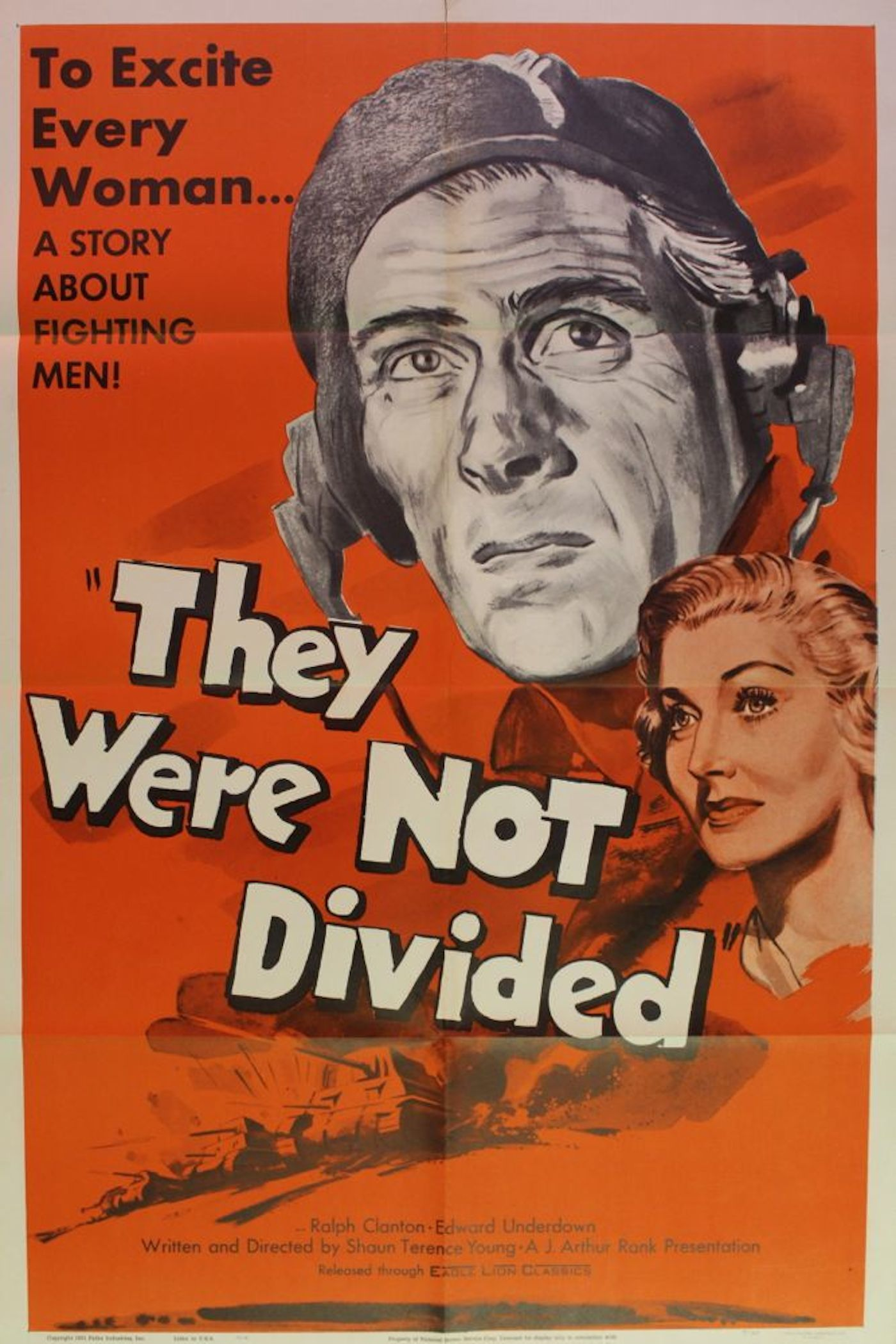 They Were Not Divided Movie Poster Amp 5 Lobby Cards