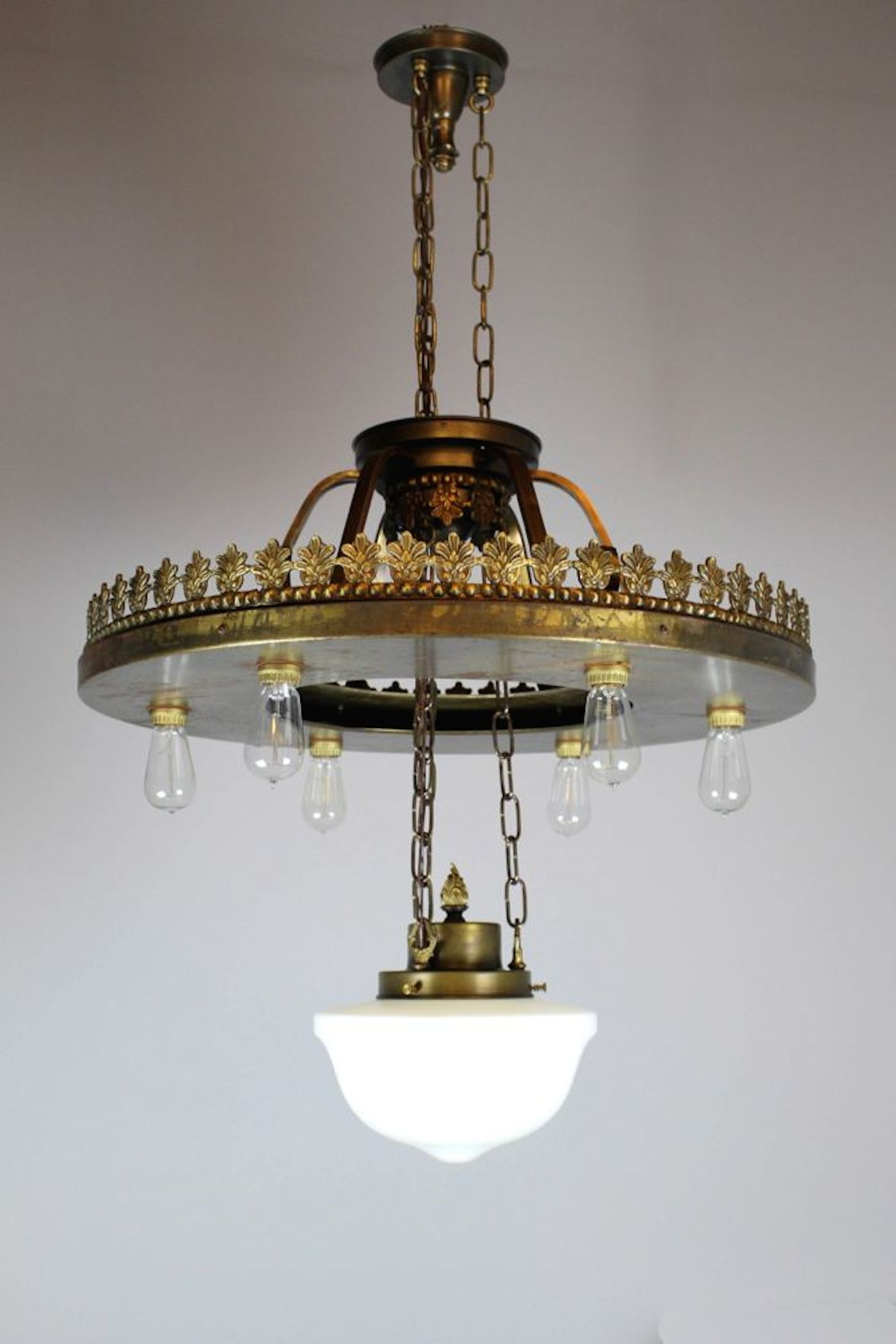large industrial bare bulb seven light fixture renew gallery. Black Bedroom Furniture Sets. Home Design Ideas
