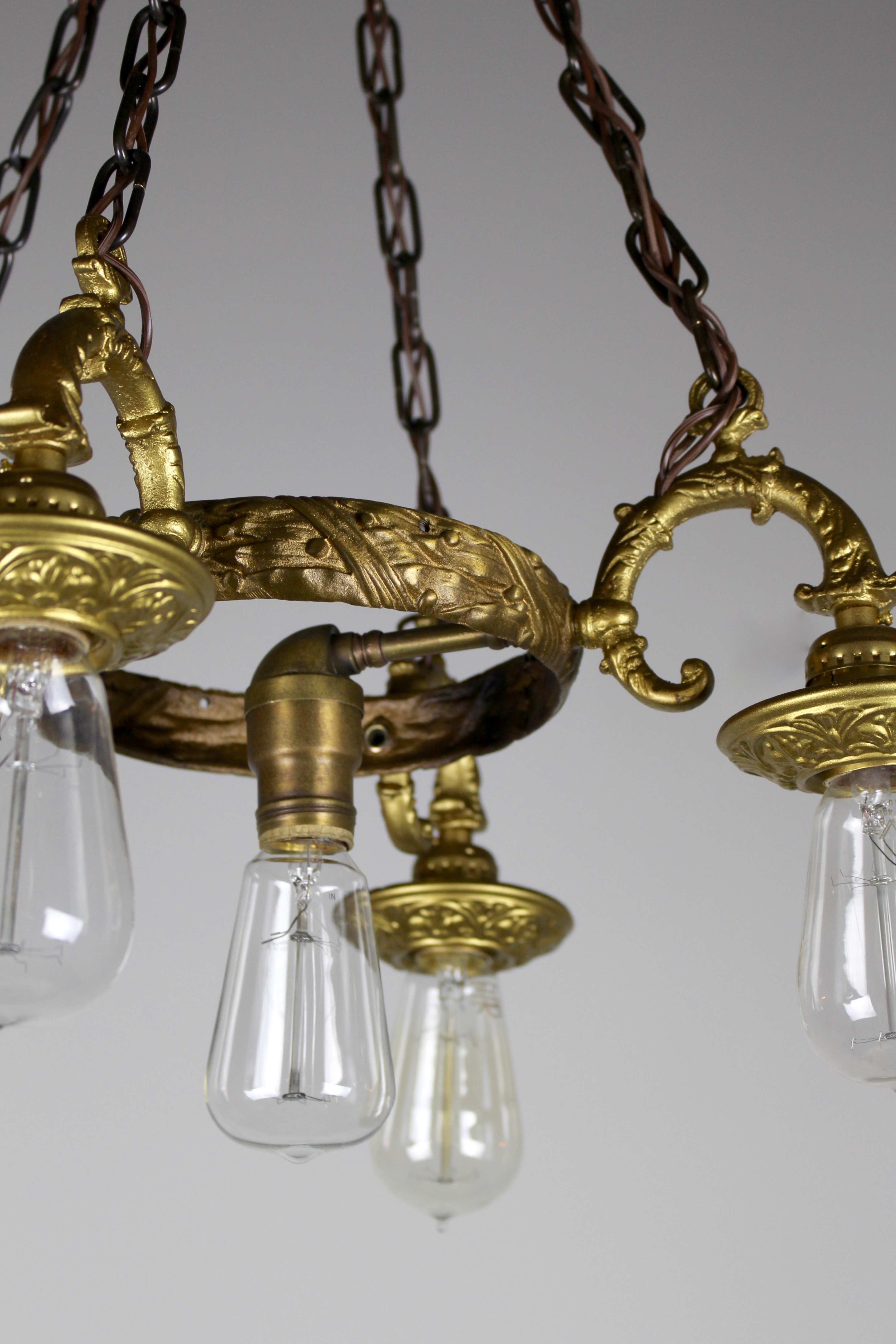 Rococo Revival Brass Ring Fixture Renew Gallery