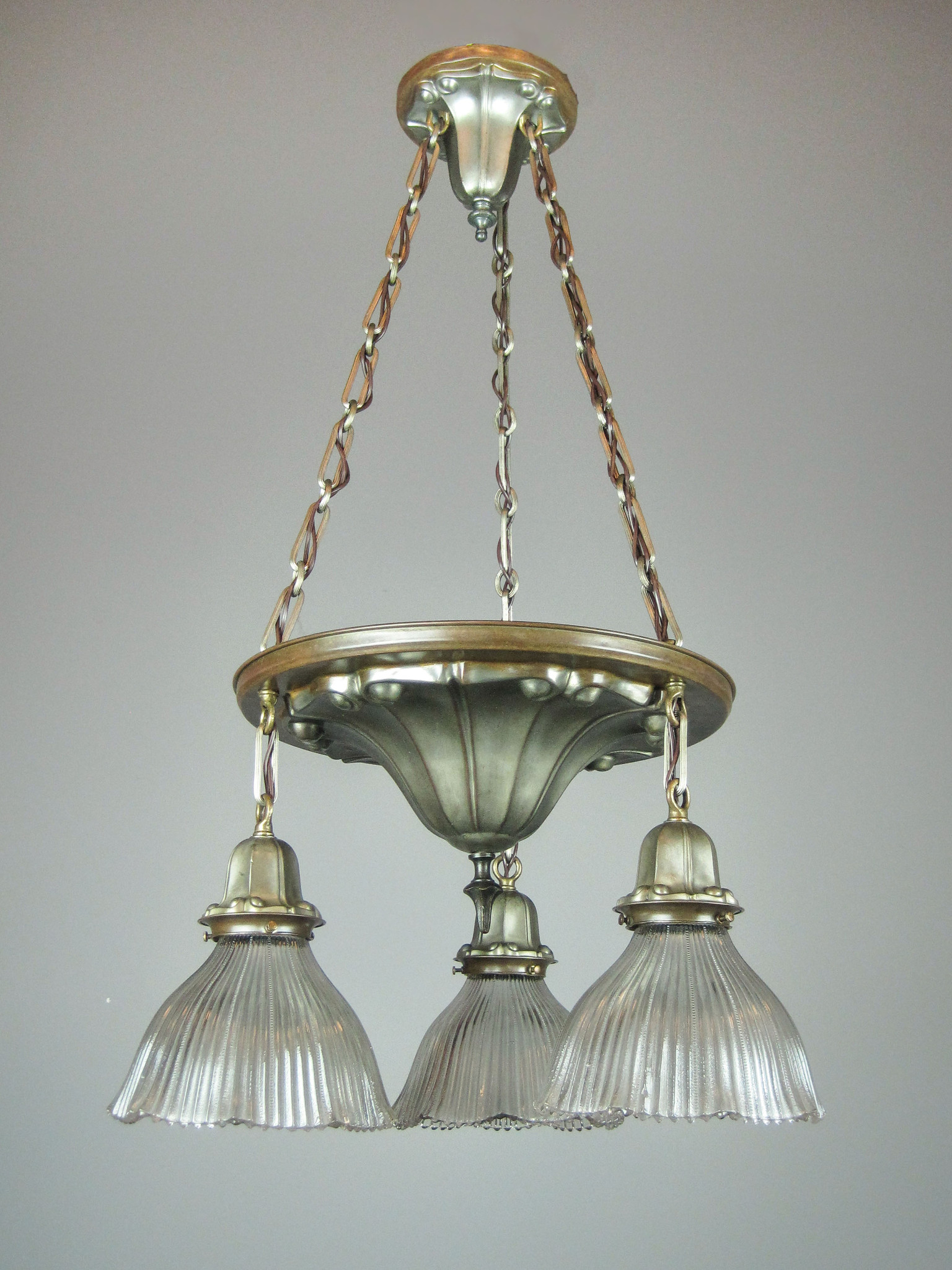 Art Nouveau Shower Light Fixture 3 Light
