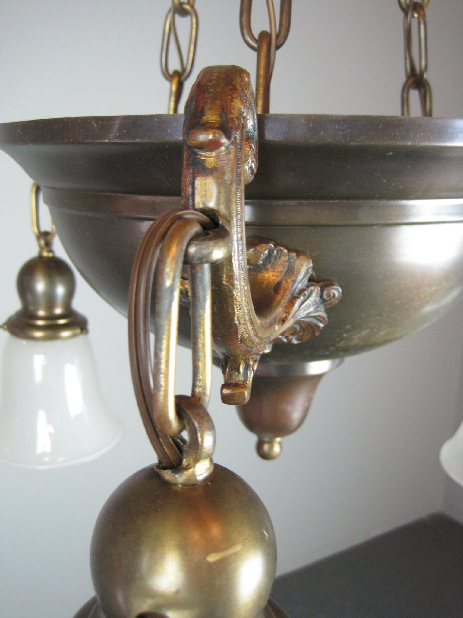 Original Arts Amp Crafts Bowl Light Fixture