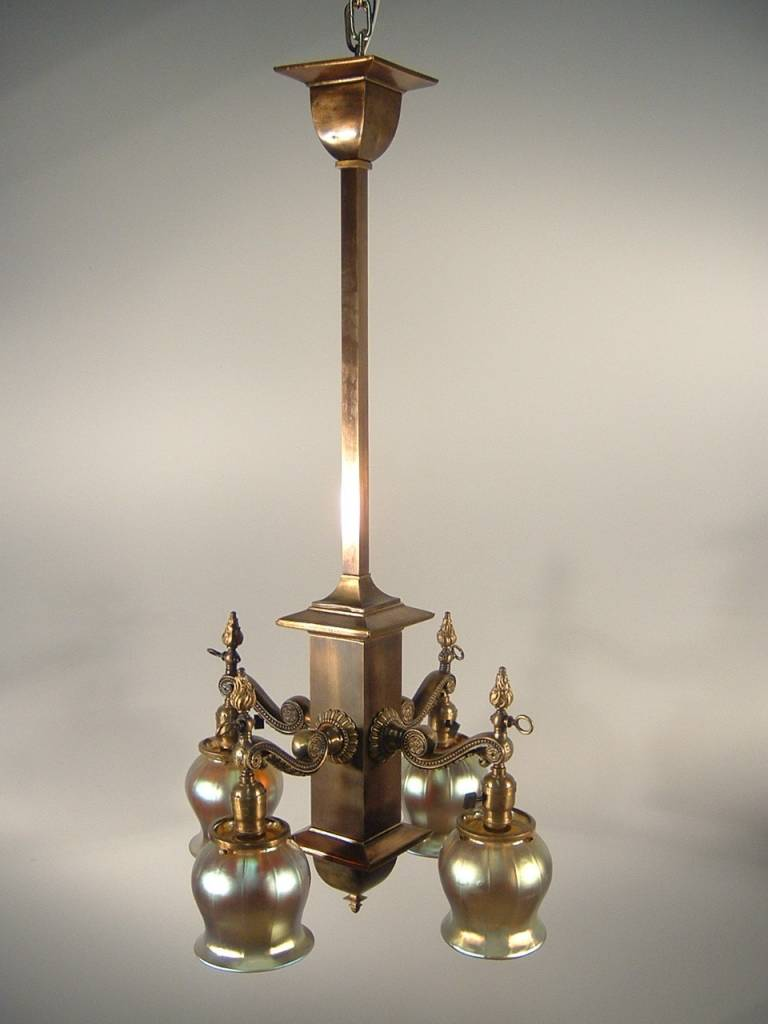 Beardslee Edwardian Mission Light Fixture 4 Light