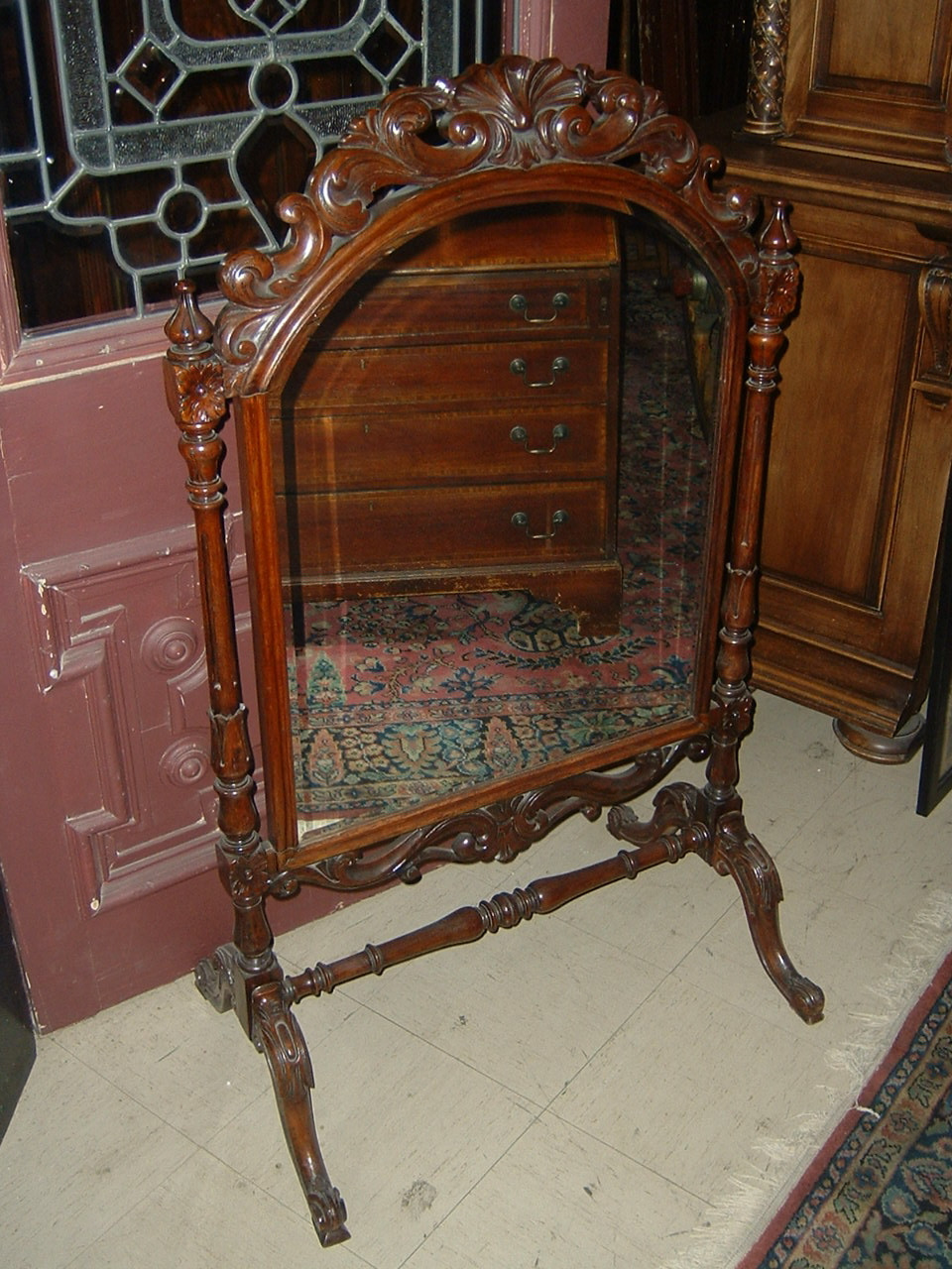 Victorian Rosewood Fireplace Screen