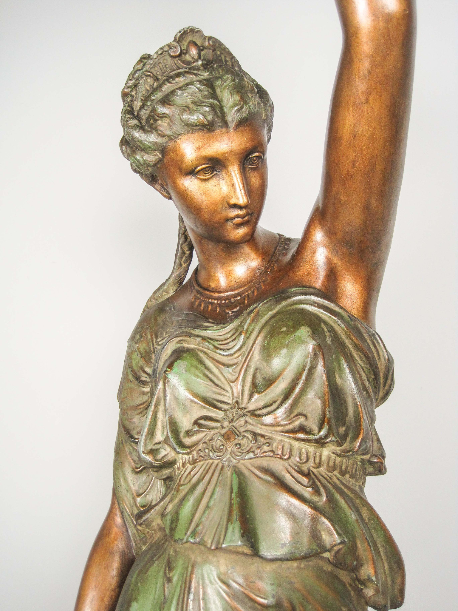 Mitchell Vance Amp Co Goddess Newel Post Lamp