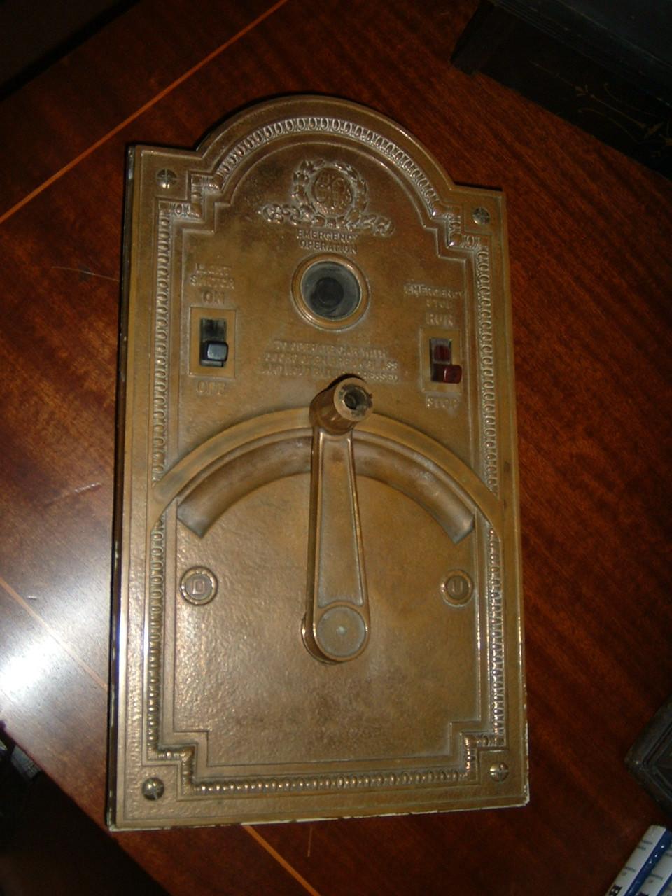 Antique Otis Elevator Panel