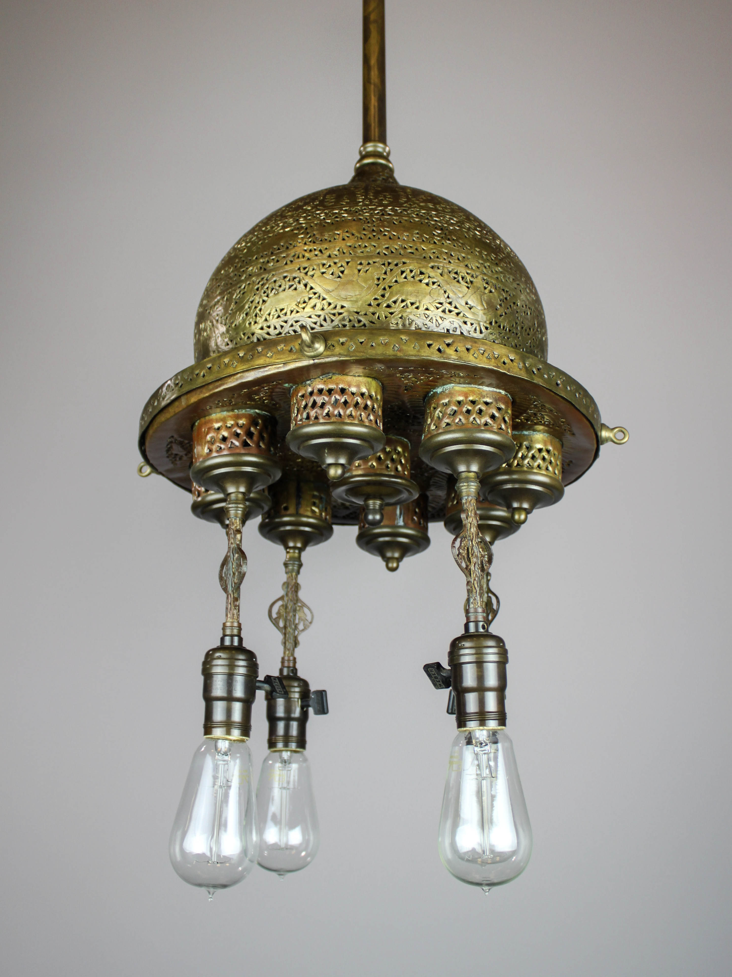 Oxley Giddings Amp Enos Arabic Revival Light Fixture 4