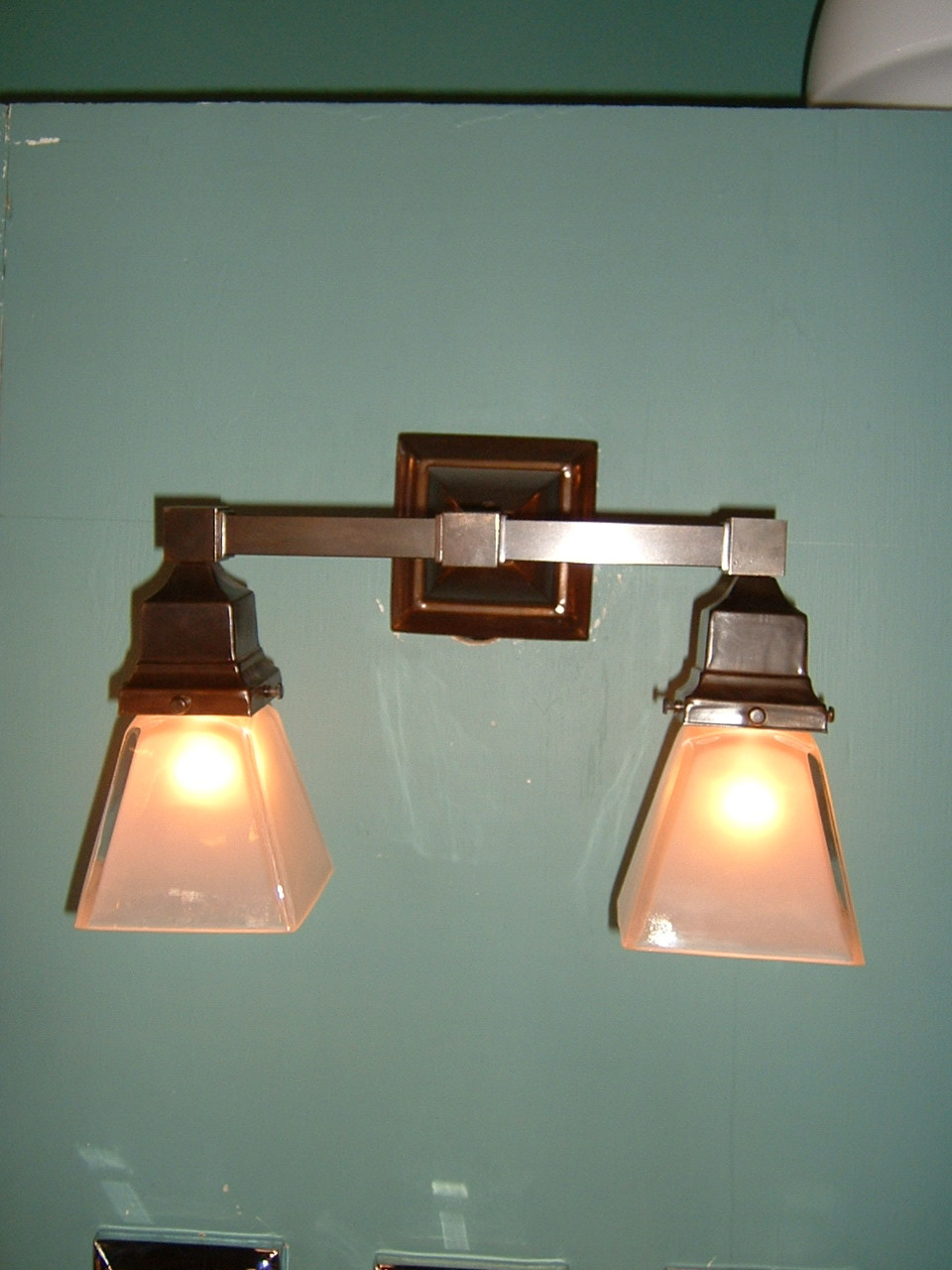 Arts Crafts Double Mission Wall Sconce