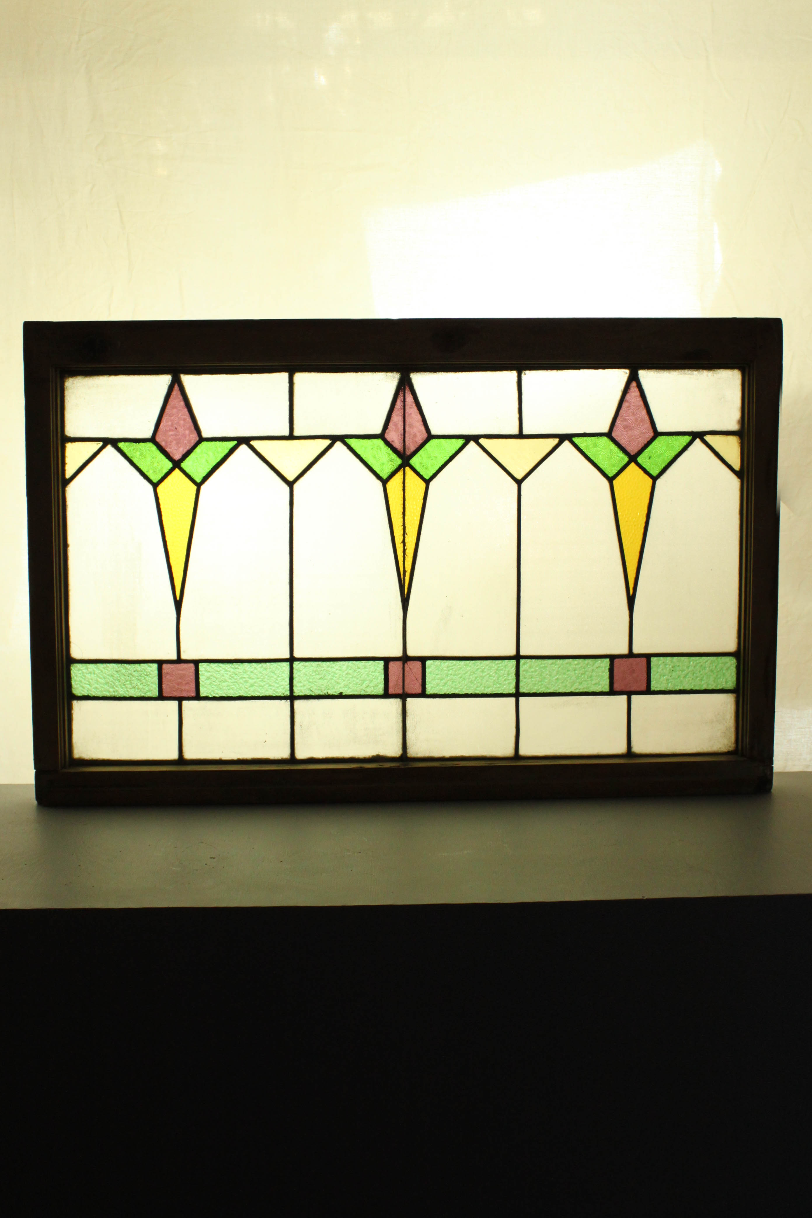 Art deco stained glass window for Art glass windows