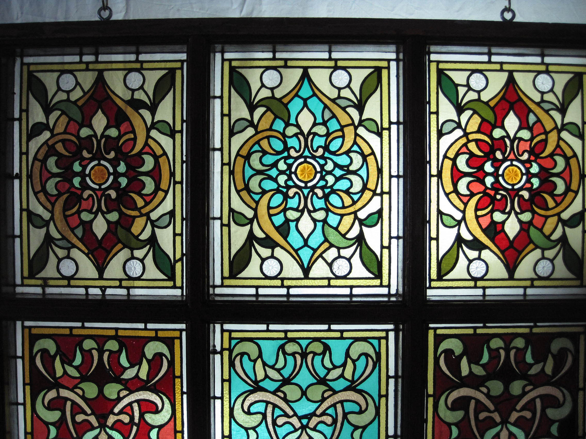 Hand Painted Stained Glass Windows