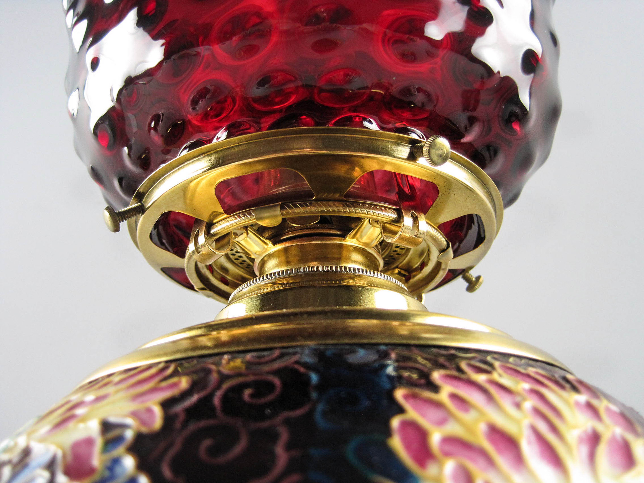 Bradley Amp Hubbard Majolica Oil Table Lamp