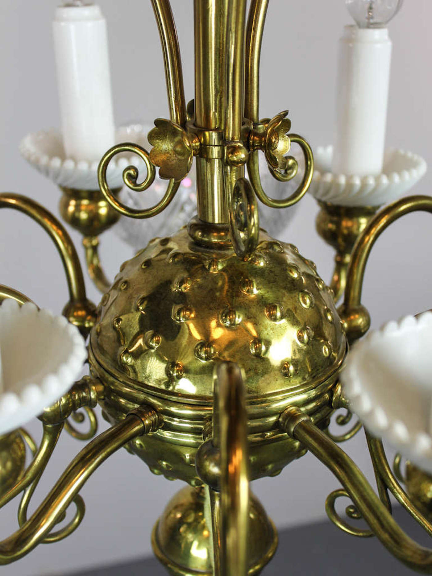 Victorian Gas Electric Chandelier