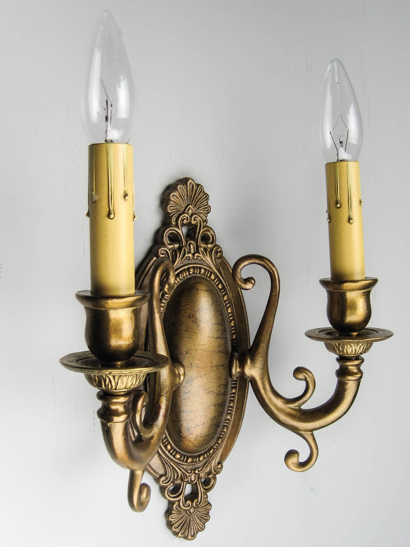 Edwardian fancy wall sconce double arm tags colonial revival edwardian reproduction sconces see more antique wall amipublicfo Image collections