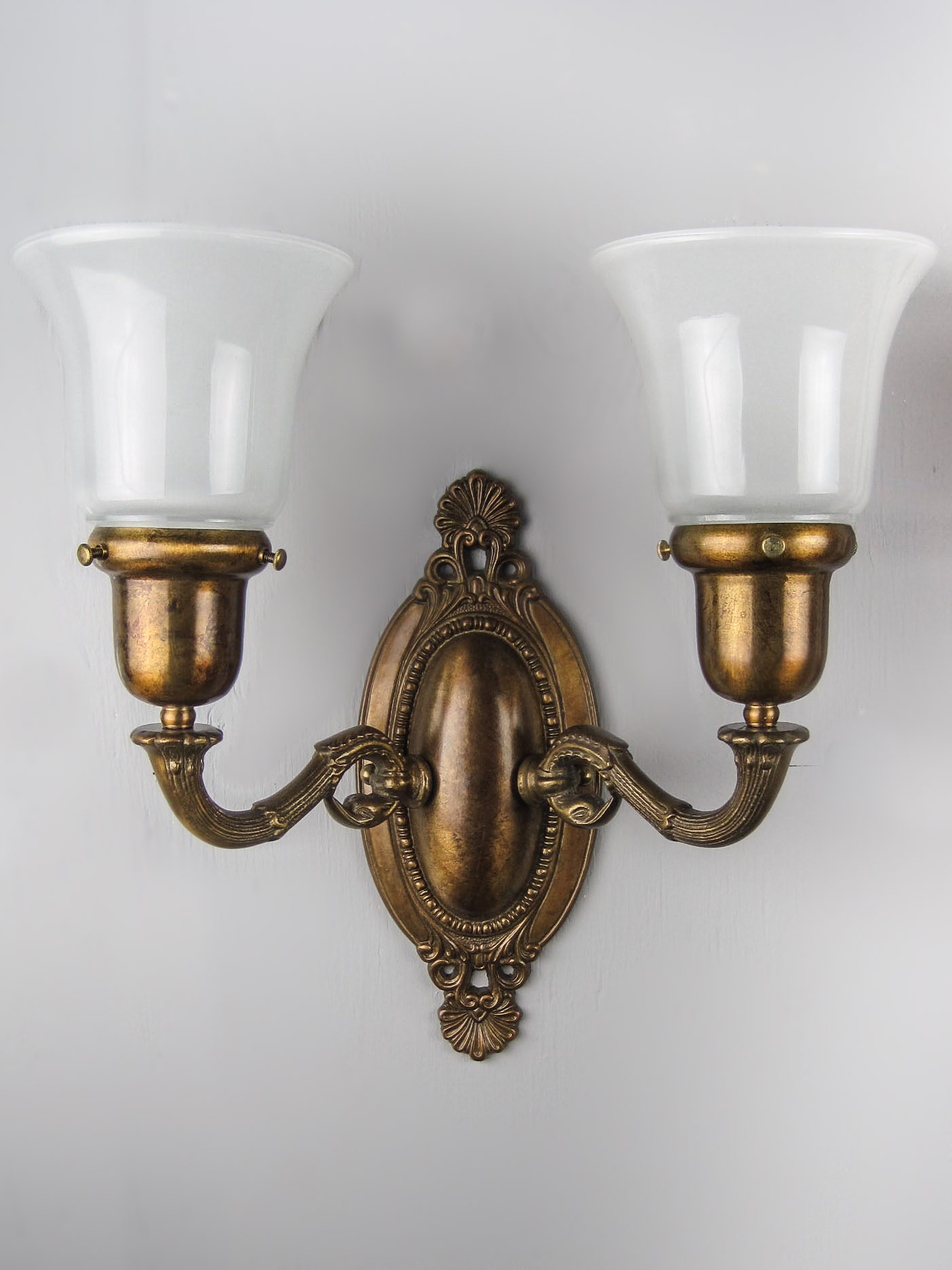 Edwardian Dolphin Wall Sconce Double Arm