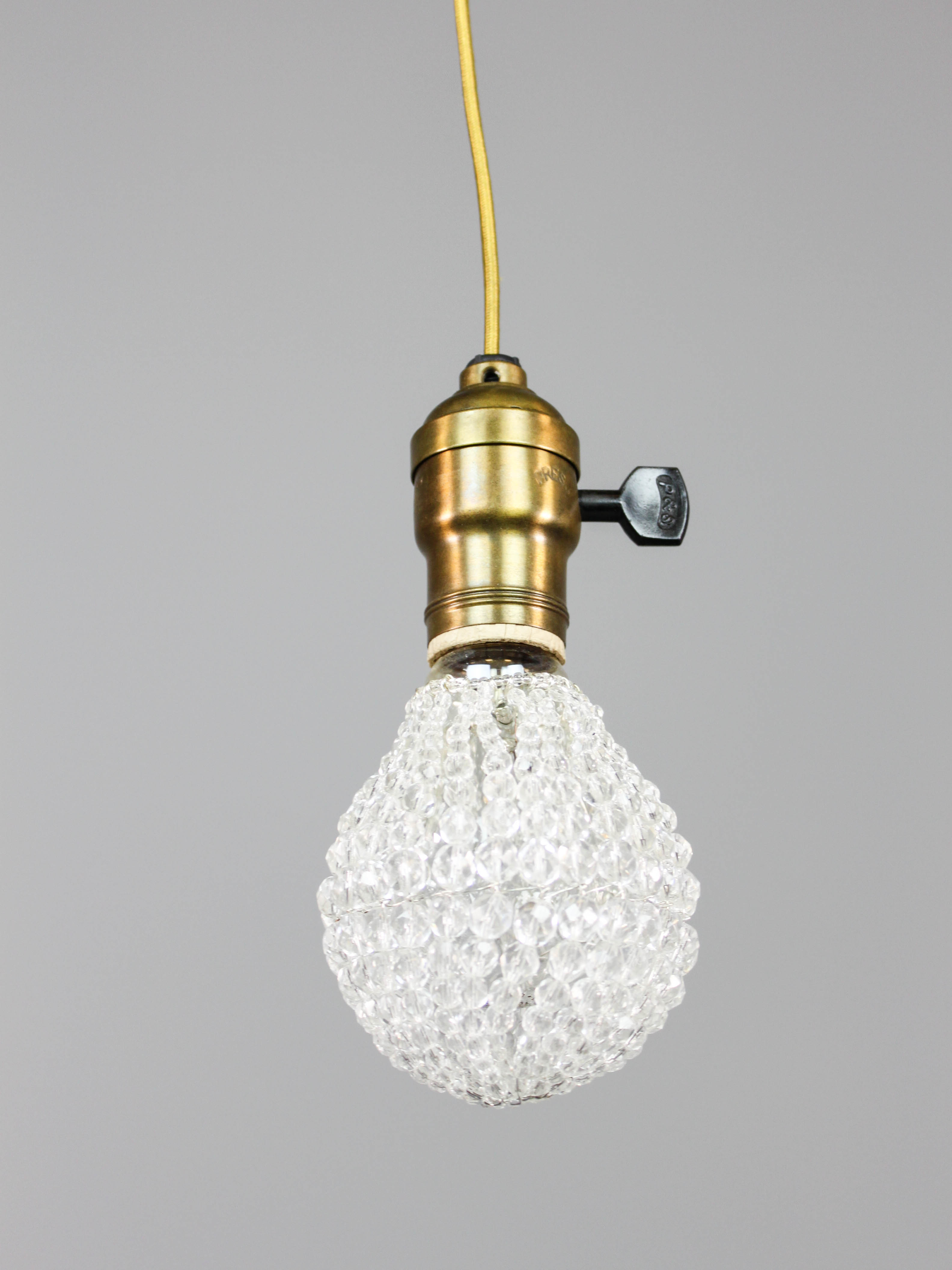 The Jude Corded Crystal Pendant Light