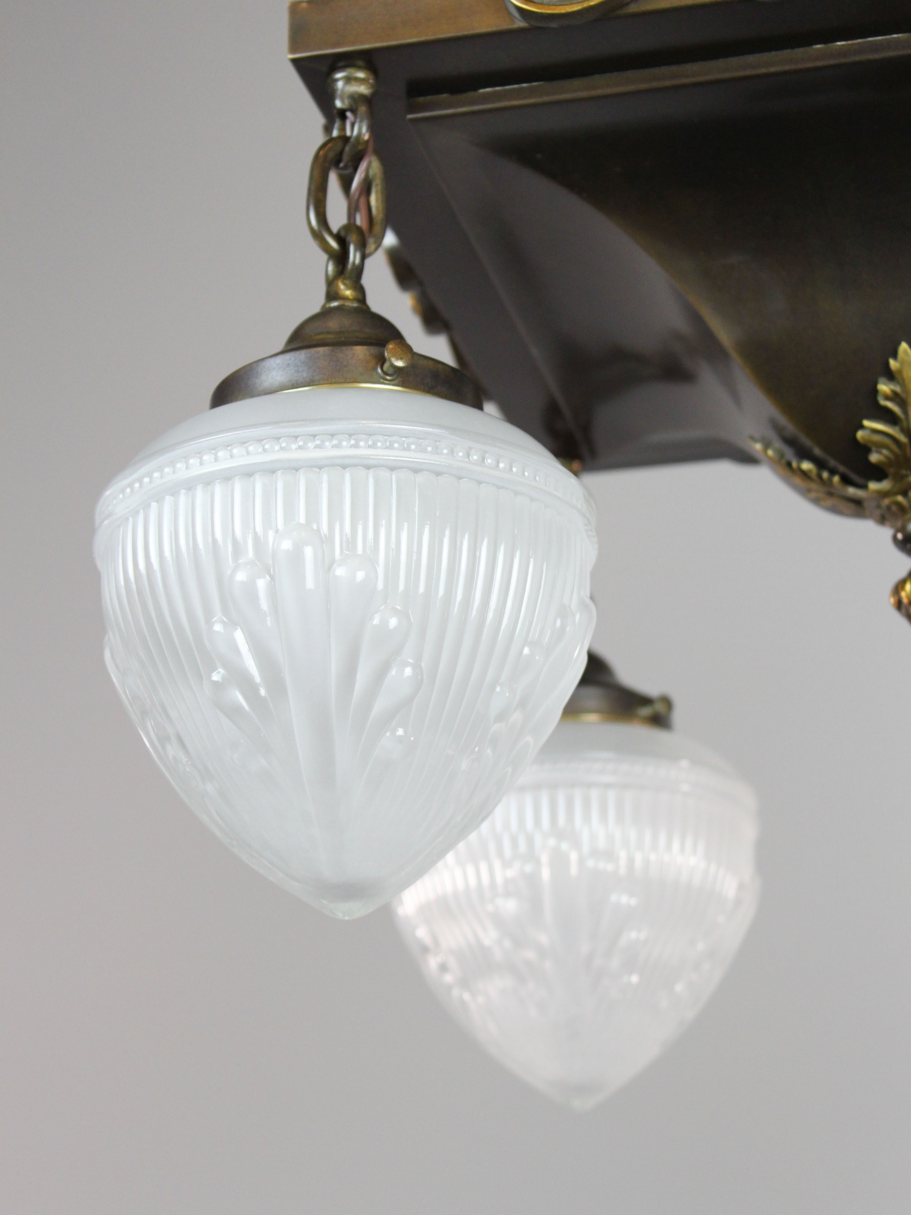 Edwardian Arts Amp Crafts Light Fixture 4 Light