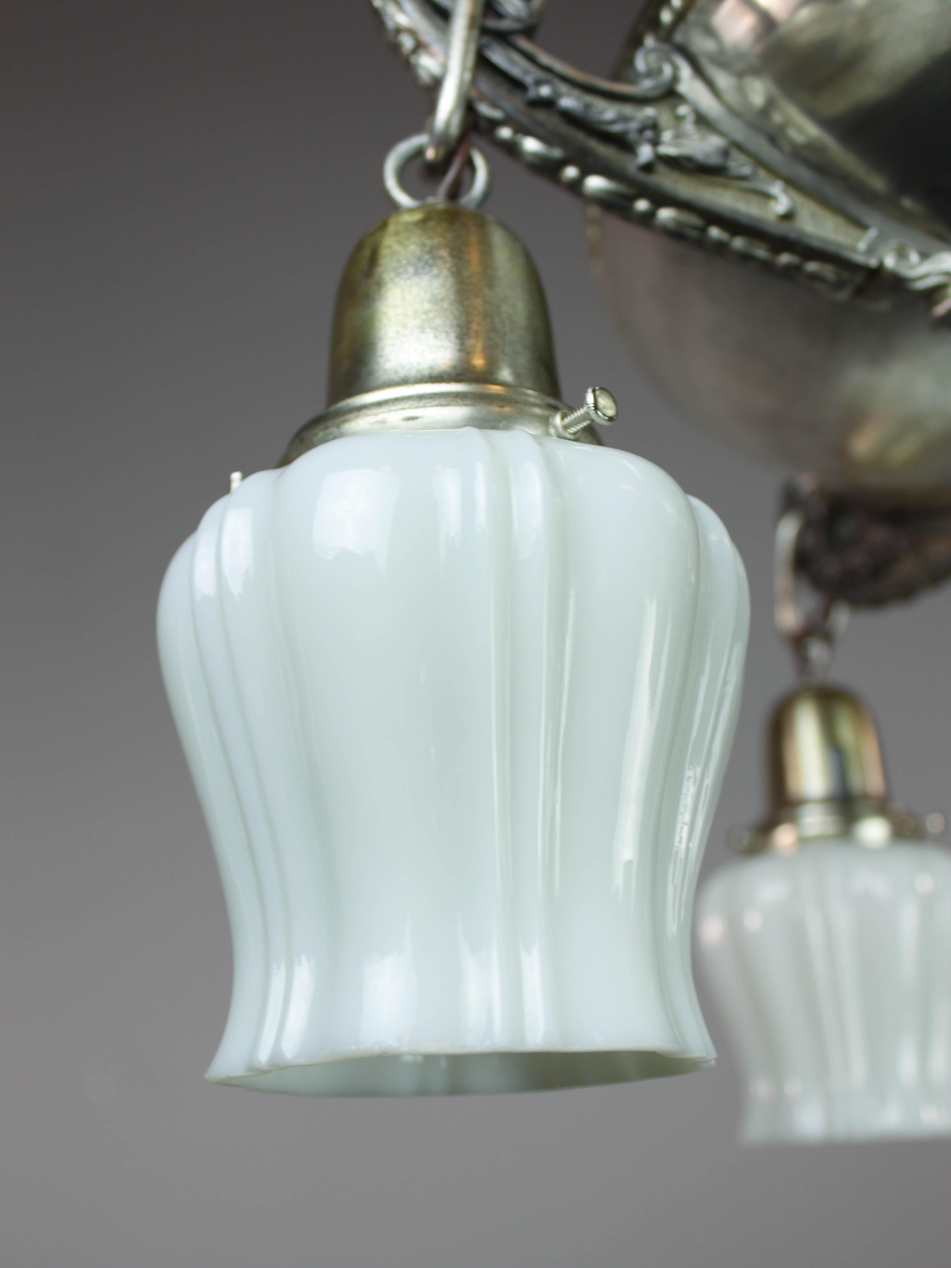 Original Silver Plated Pan Light 4 Light