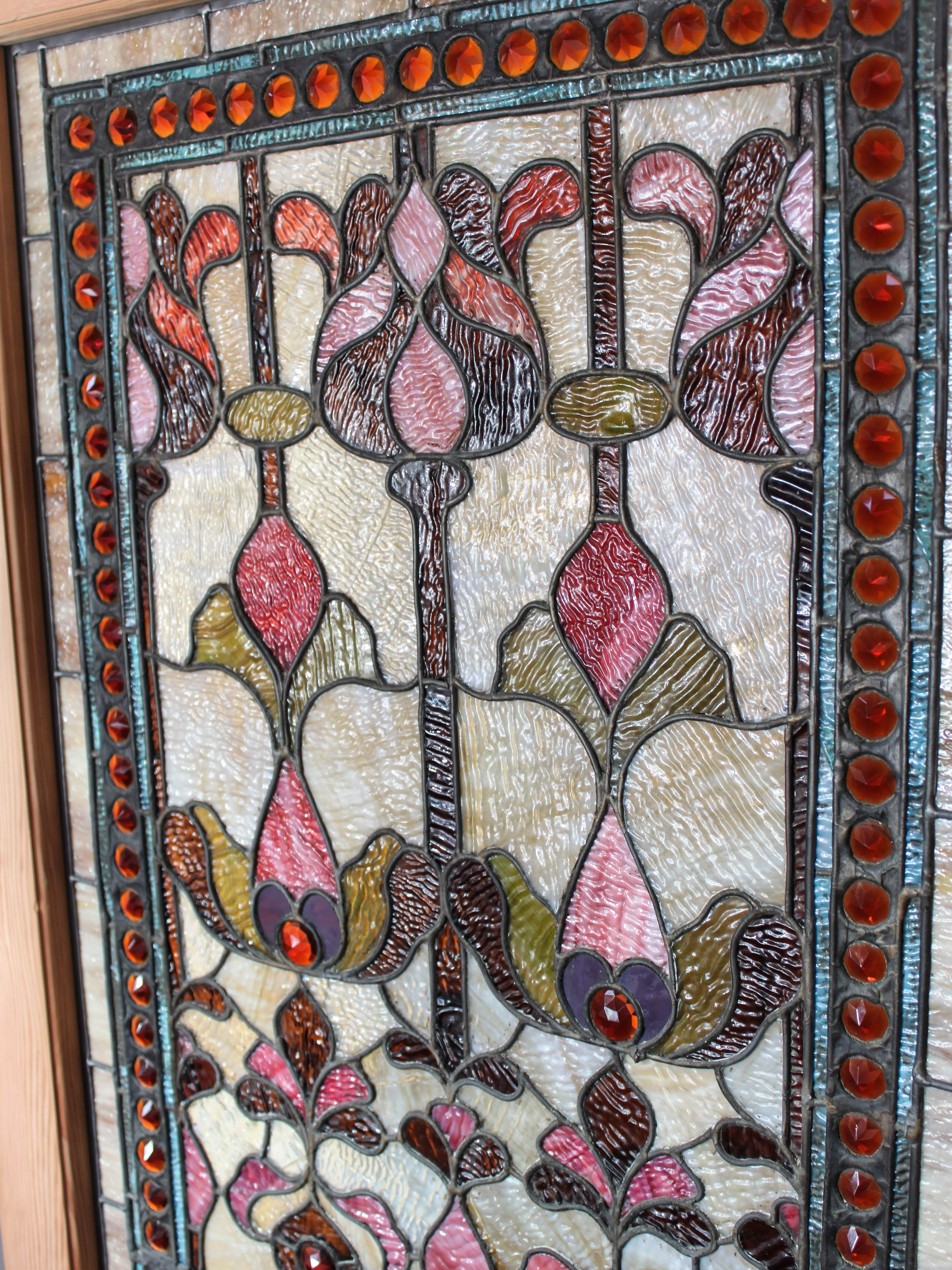 tiffany stained glass window panel sg1026 7