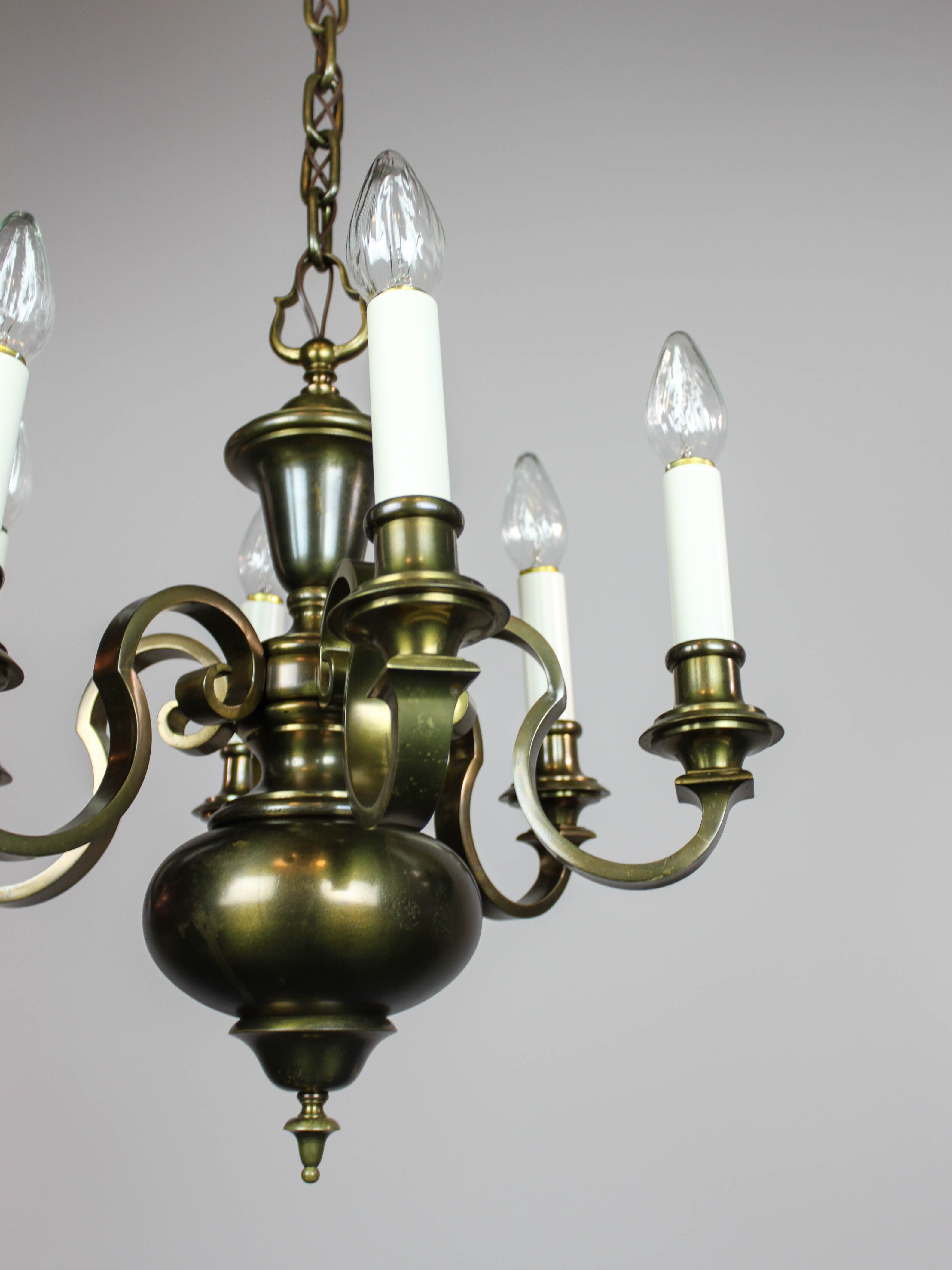 Colonial Revival Chandelier 6 Light