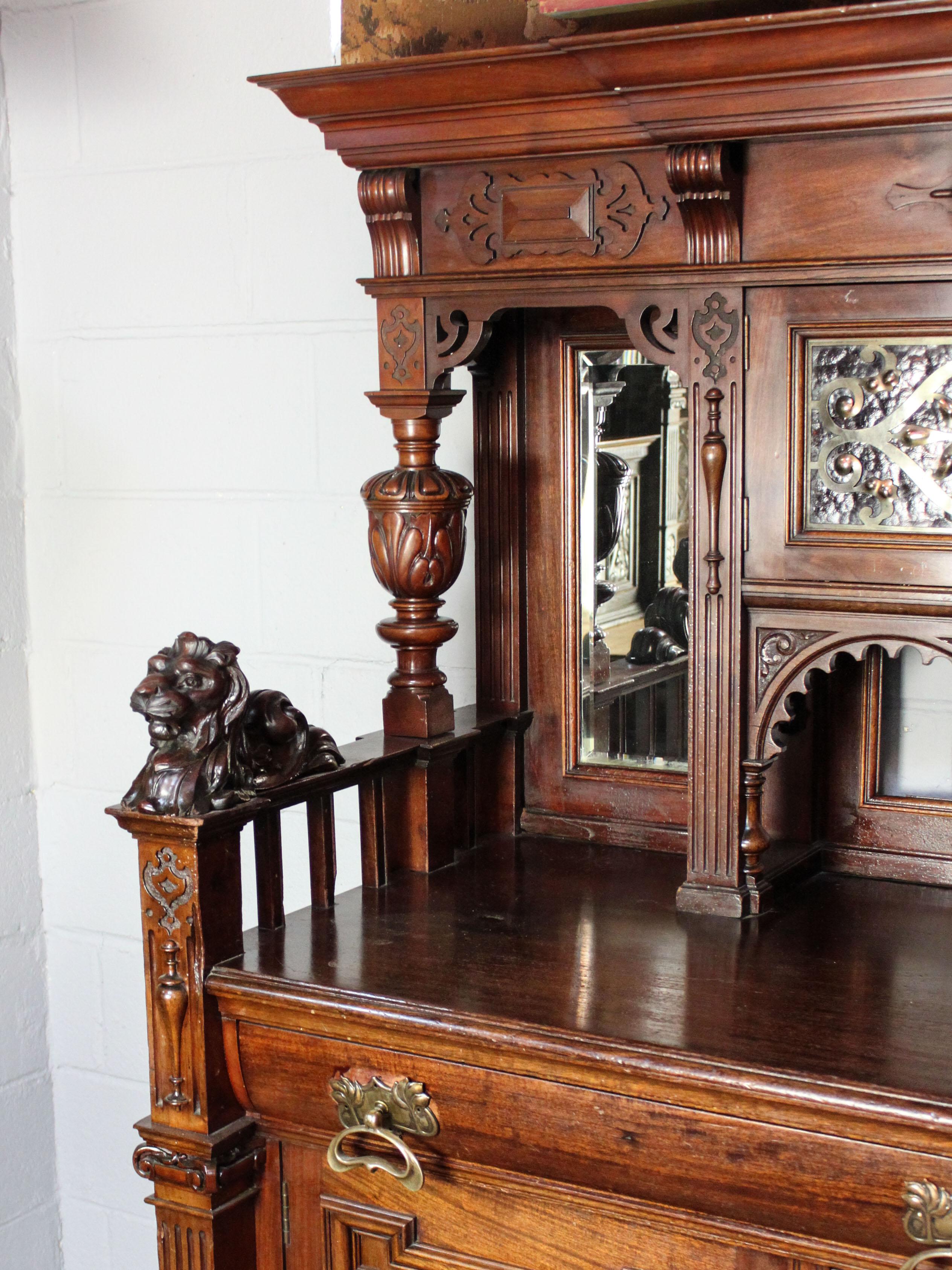Carved Lion Sideboard