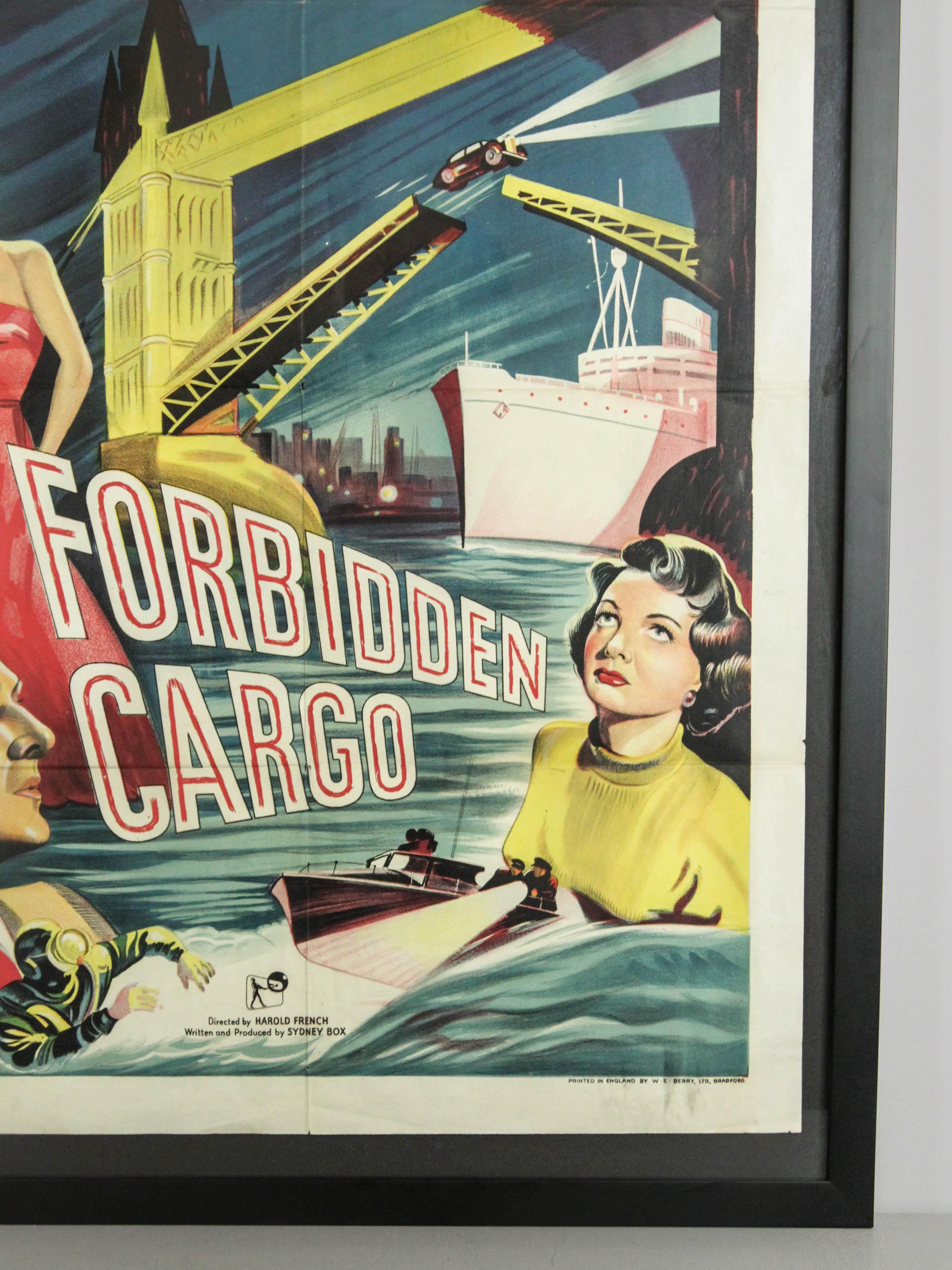 forbidden cargo vintage movie poster