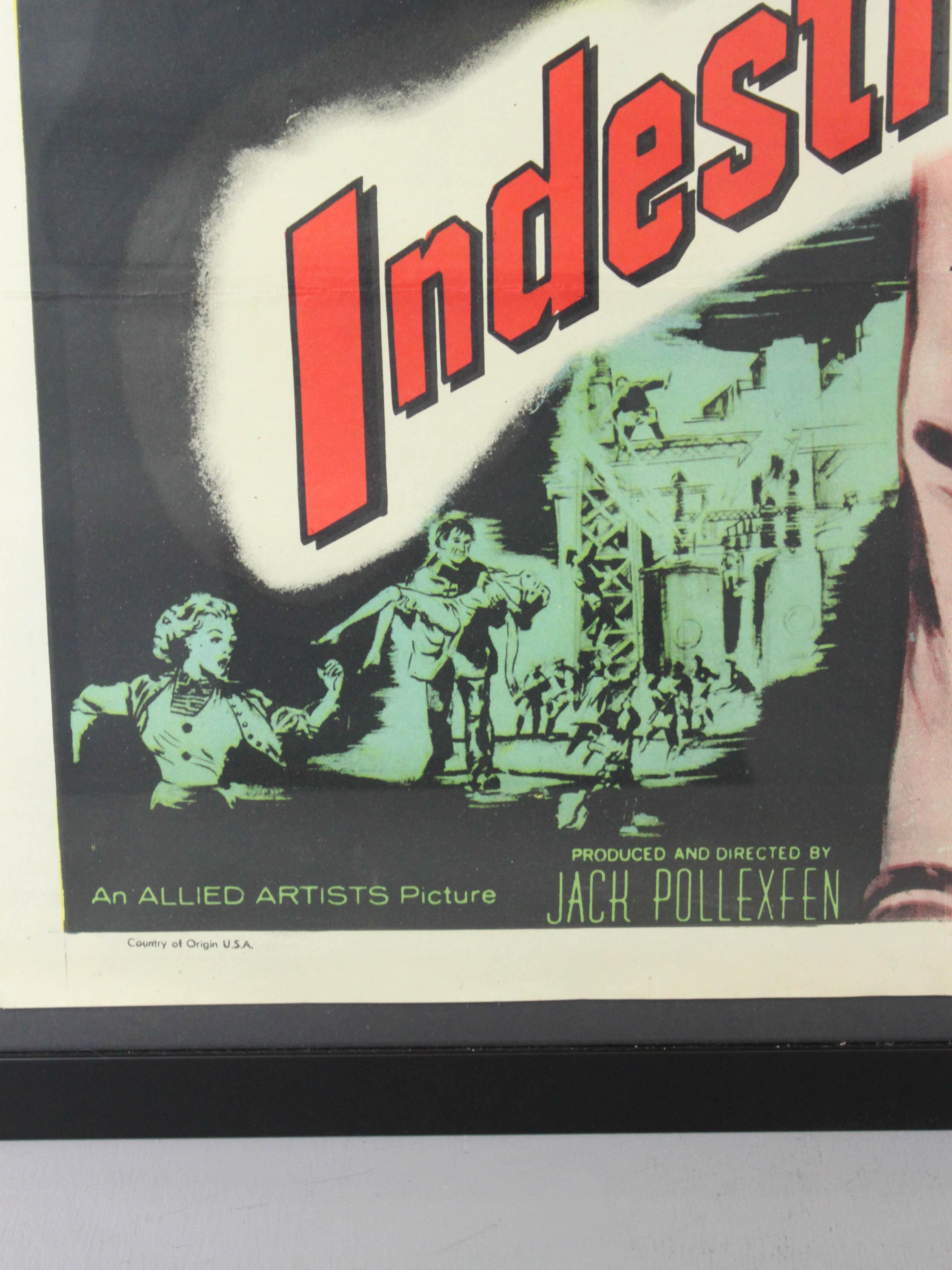 Indestructible Man Movie Poster
