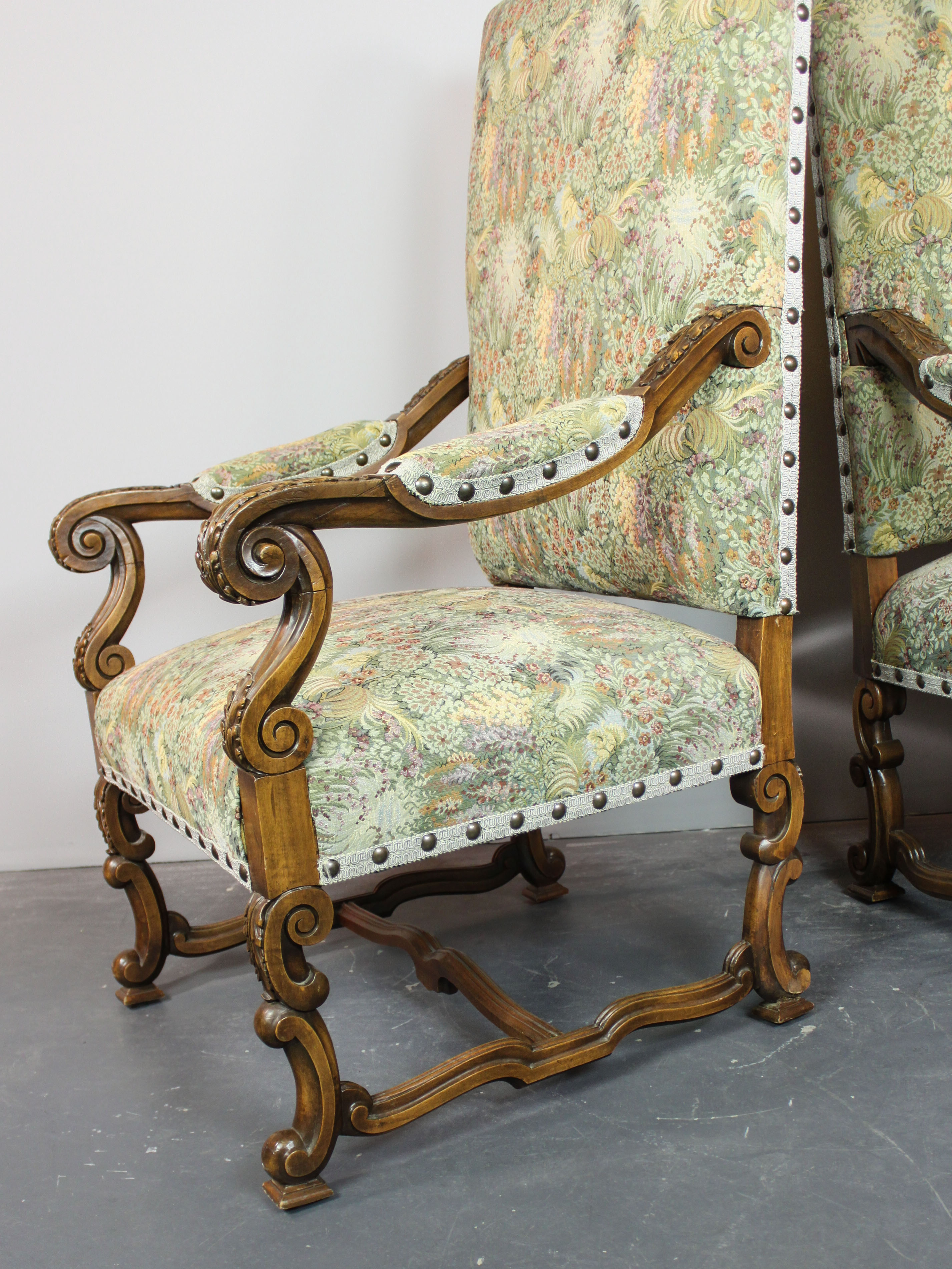 Antique high back chairs - Tags Chairs