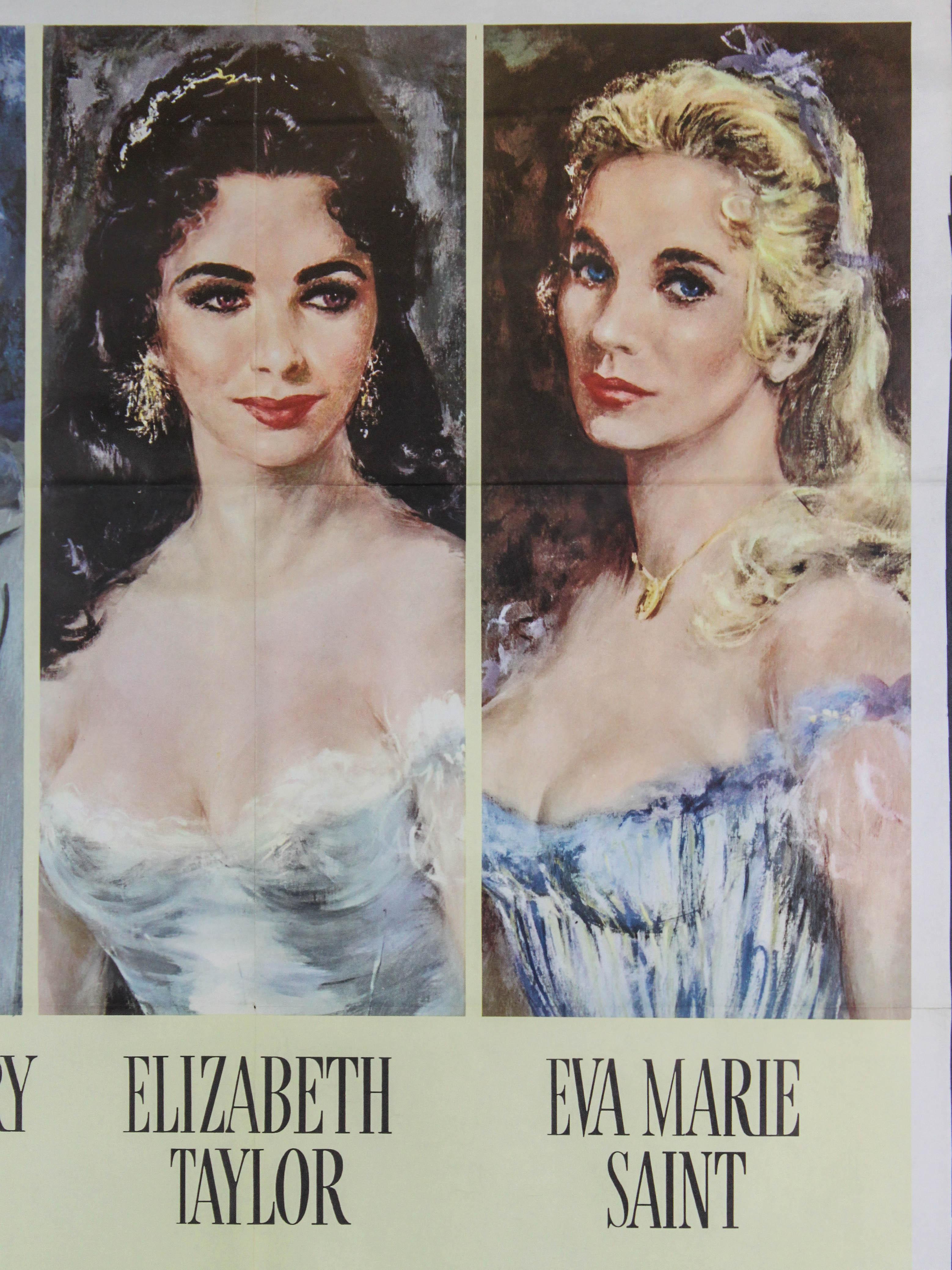 Raintree County Poster Starring Elizabeth Taylor