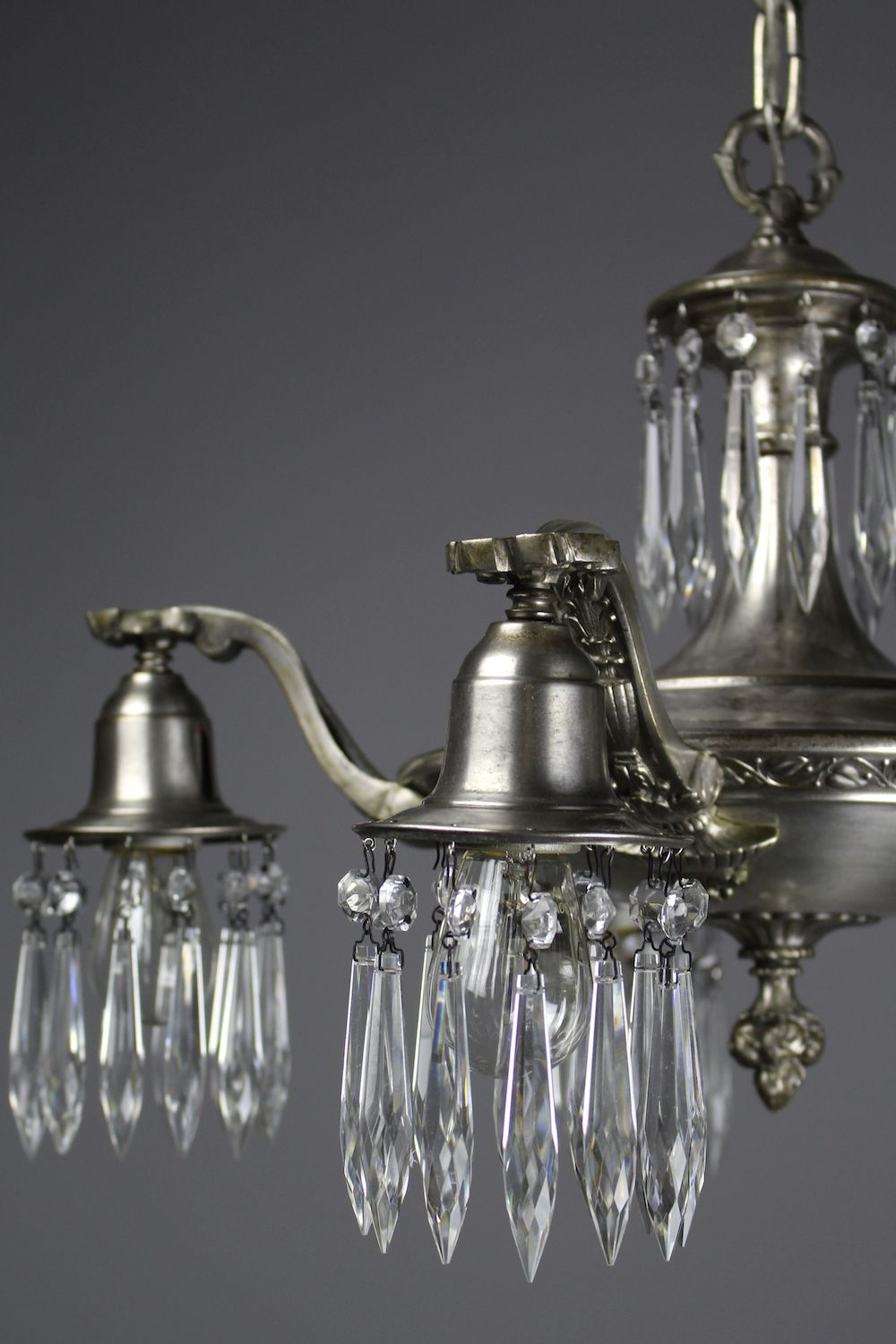 Edwardian crystal swag chandelier 5 light see more antique chandeliers antique lighting aloadofball Choice Image