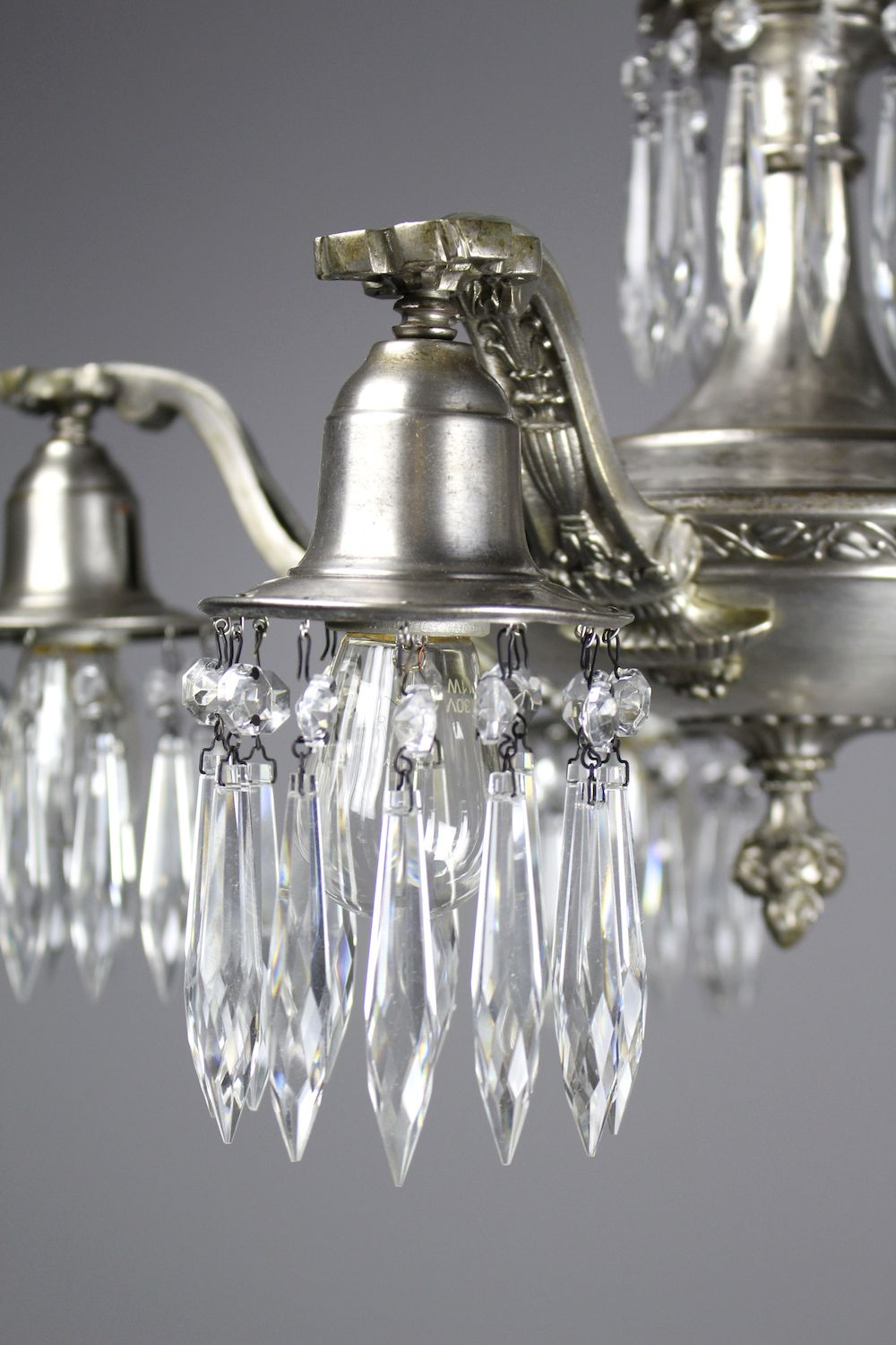 Edwardian crystal swag chandelier 5 light see more antique chandeliers mozeypictures Gallery
