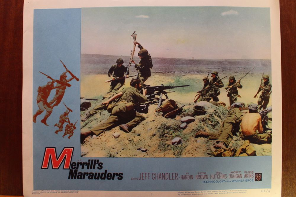 Merrill S Marauders Movie Poster Amp Set Of Lobby Cards