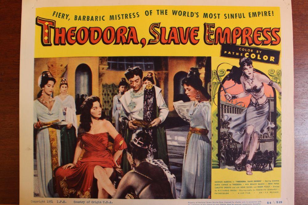 Theodora Slave Empress Movie Poster Amp Set Of Lobby Cards