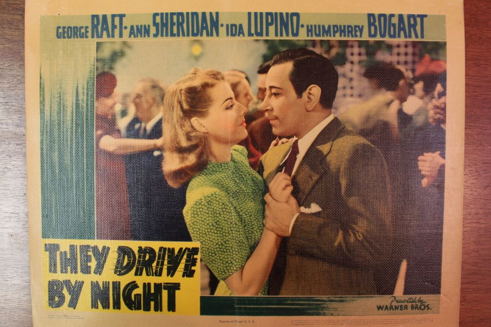 u201cthey drive by night u201d movie poster  u0026 set of lobby cards