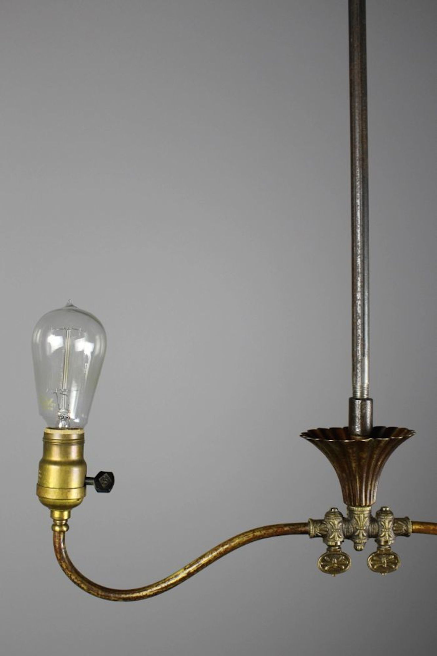 Industrial Converted Gas Electric Double Pendant
