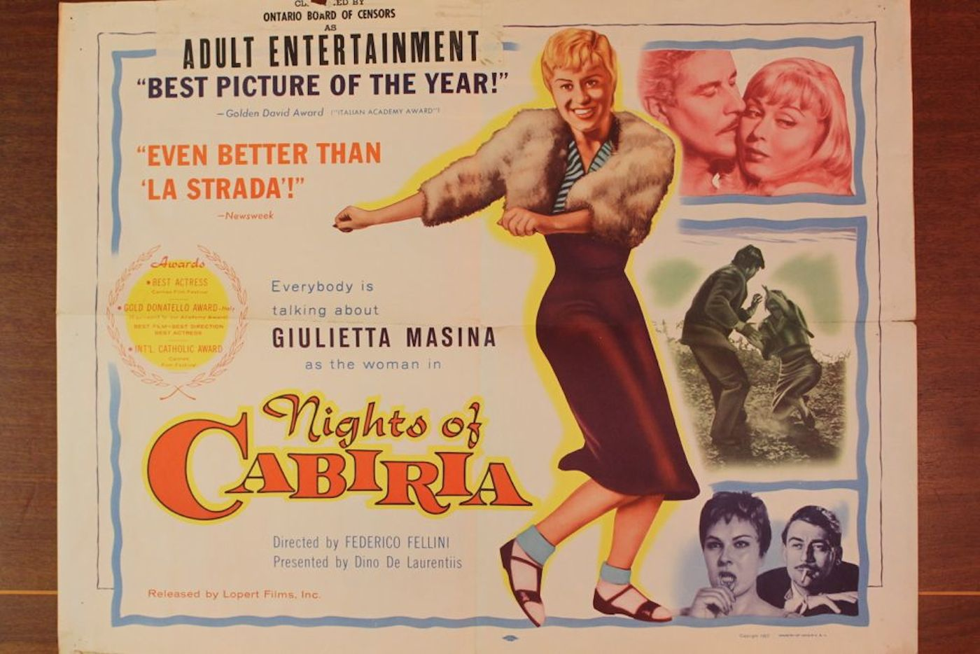 u201cnights of cabiria u201d movie poster  u0026 8 stills
