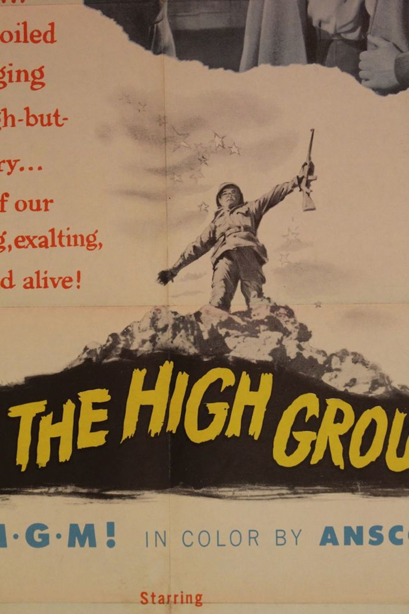 """Take the High Ground"" Movie Poster & 2 Lobby Cards"