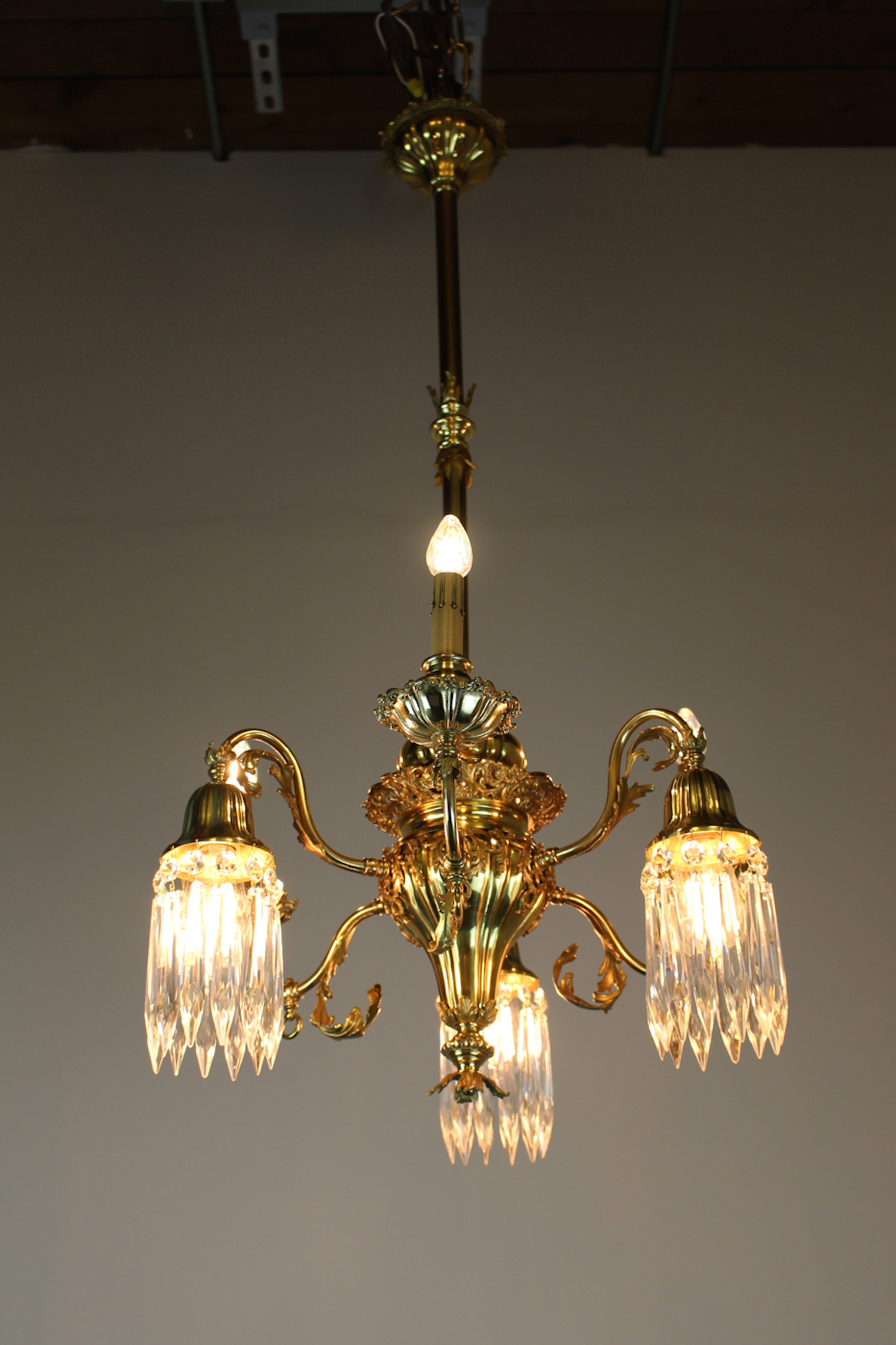Converted gas electric decorative sheffield style chandelier see more antique ceiling lights antique chandeliers antique arubaitofo Images