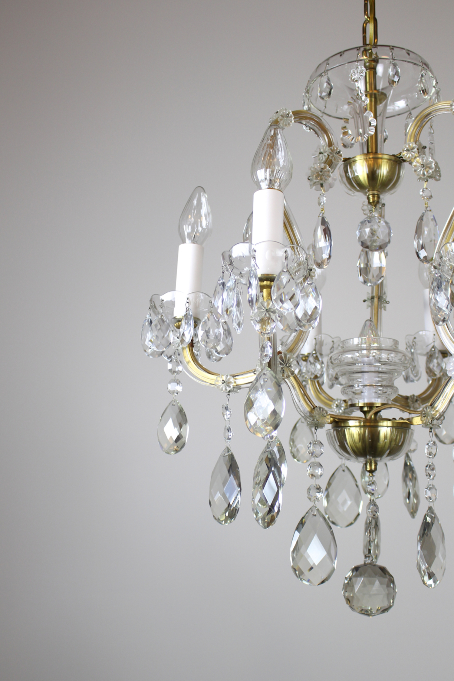 Louis xvi mary teresa style cut crystal chandelier see mozeypictures Choice Image