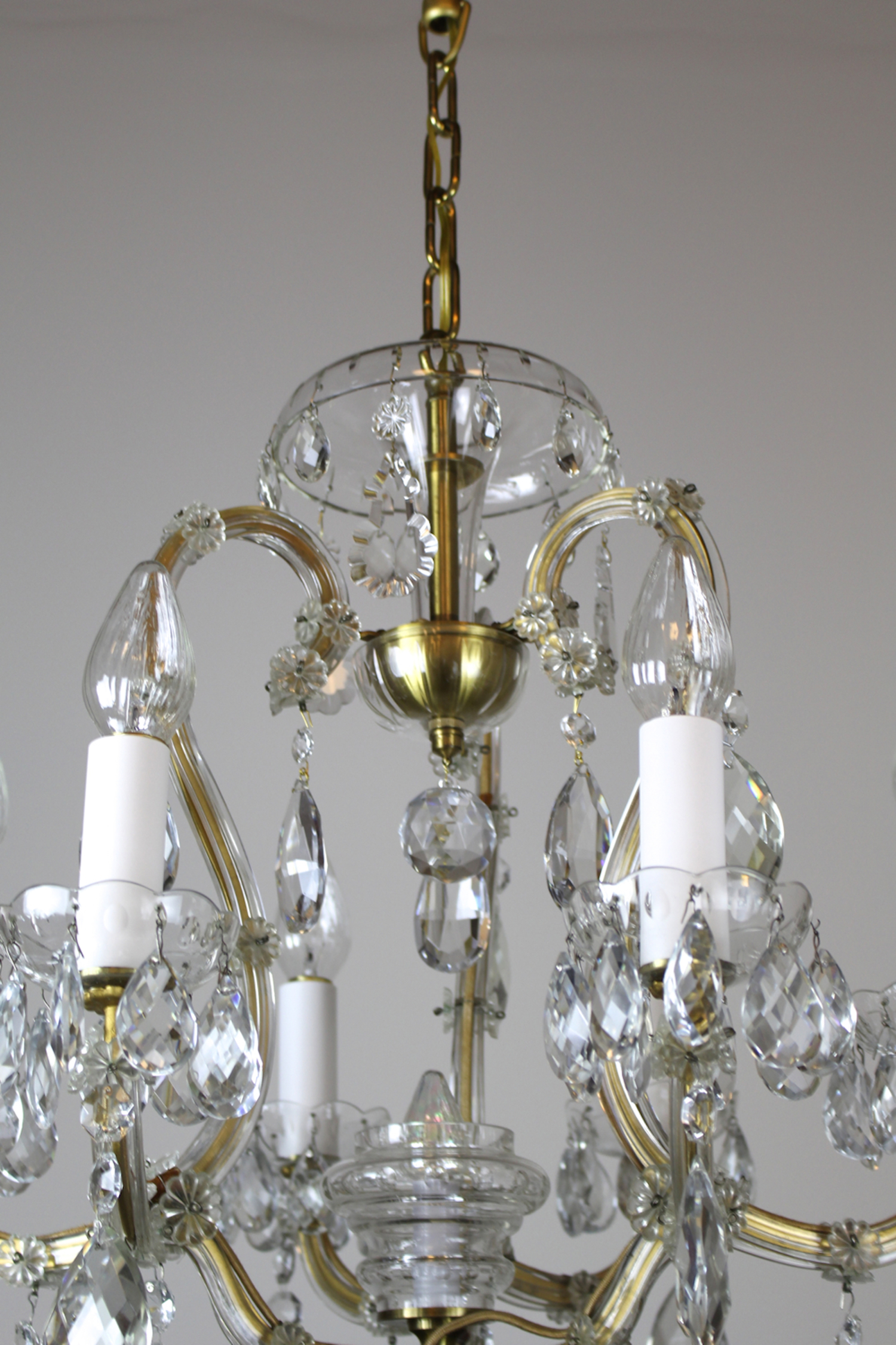 Louis Xvi Mary Teresa Style Cut Crystal Chandelier