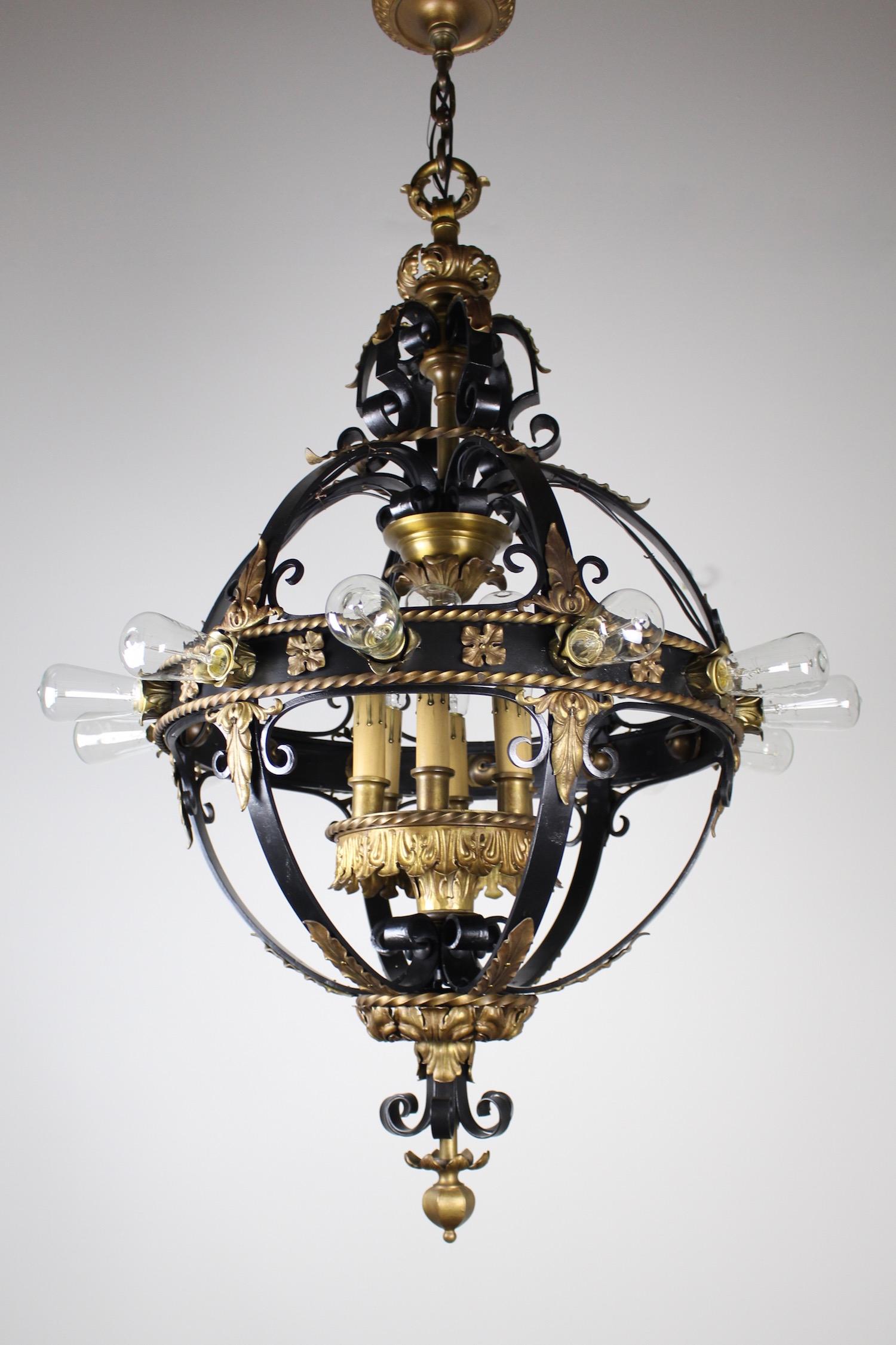 Italian Renaissance Flush Mount Stair Lantern 18 Lights