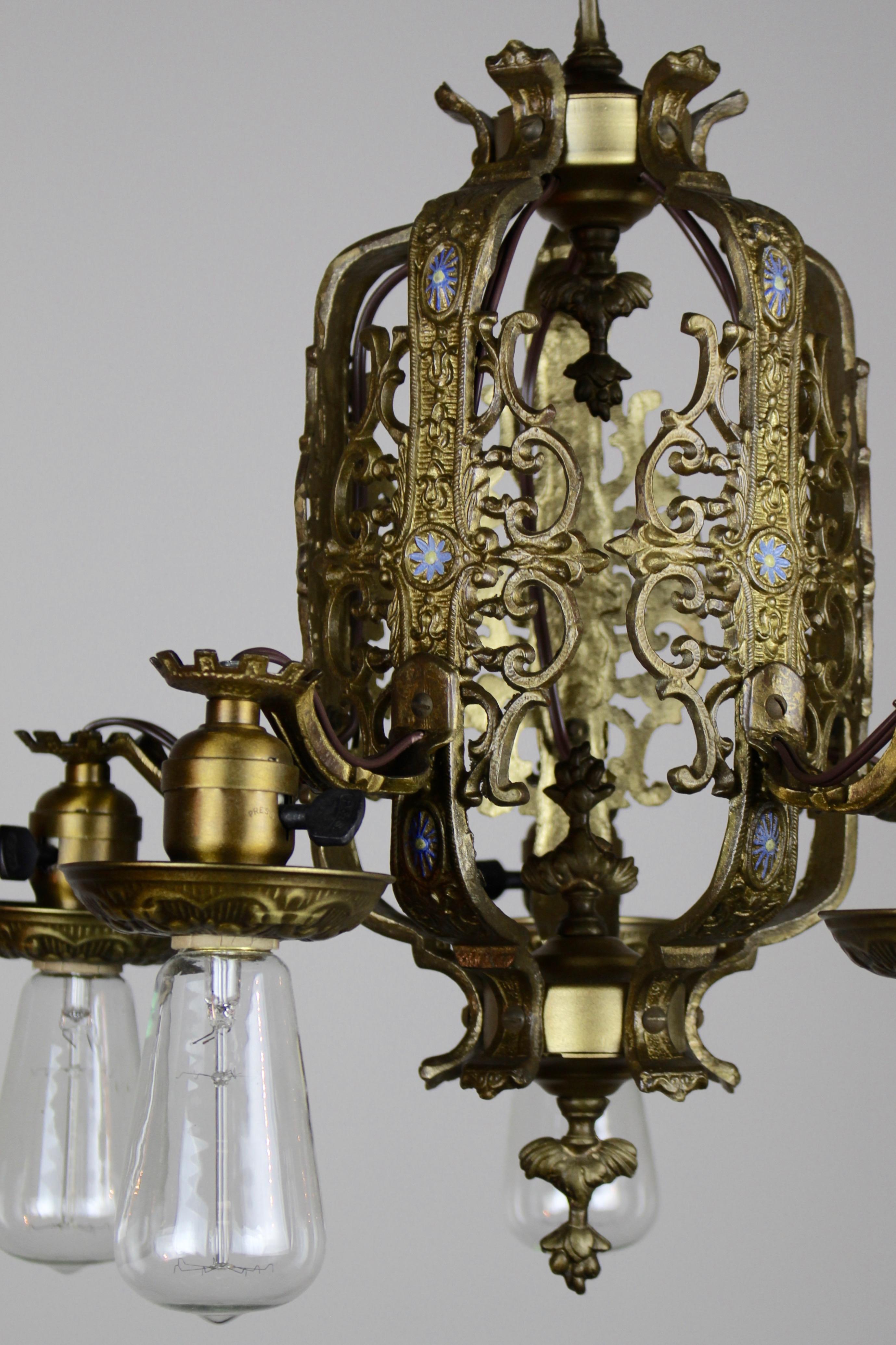 Cast Brass Italian Renaissance Revival Dining Room Fixture