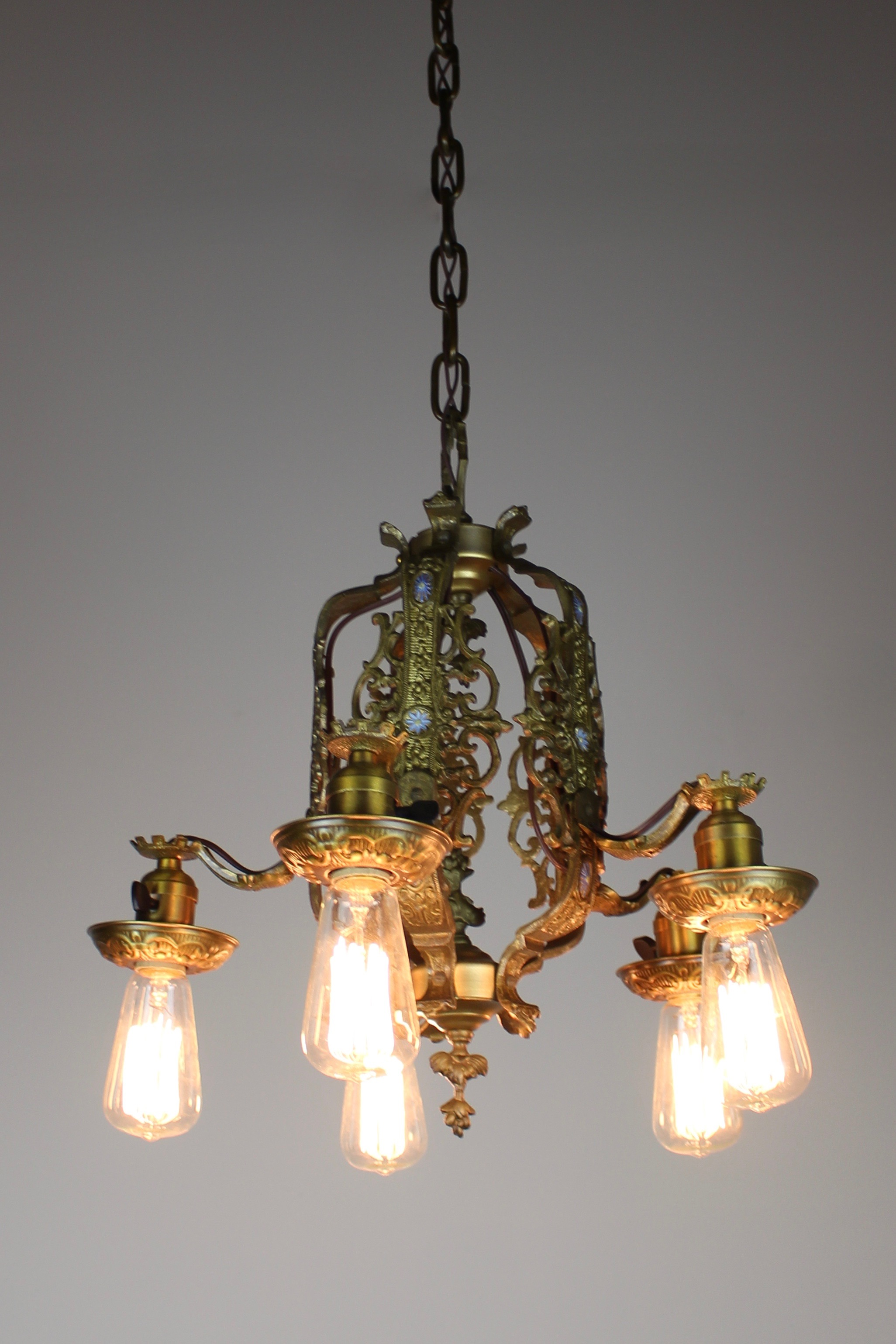 Cast Brass Italian Renaissance Revival Dining Room Fixture Light - Italian light fixtures
