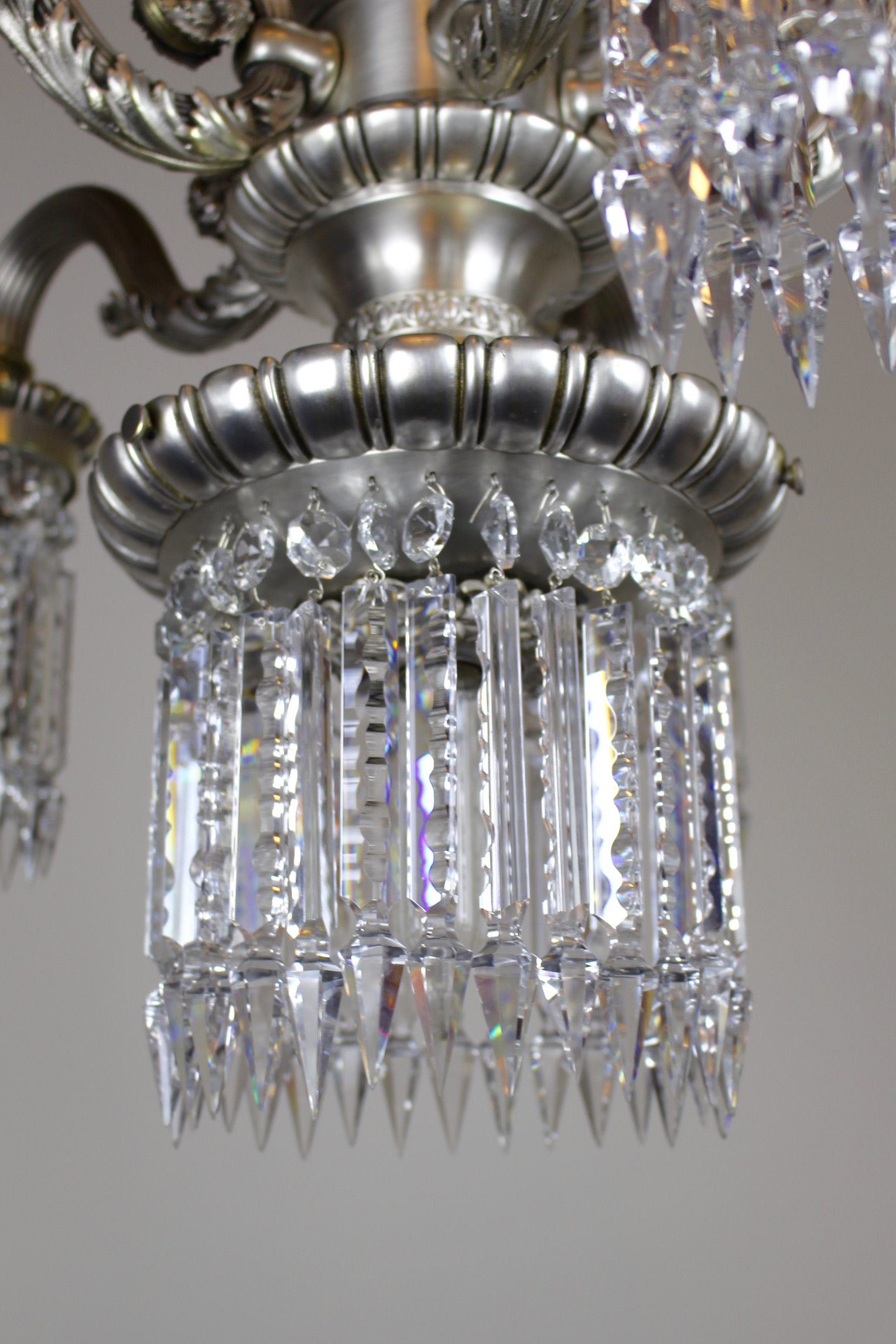 Close To Ceiling Crystal Chandelier