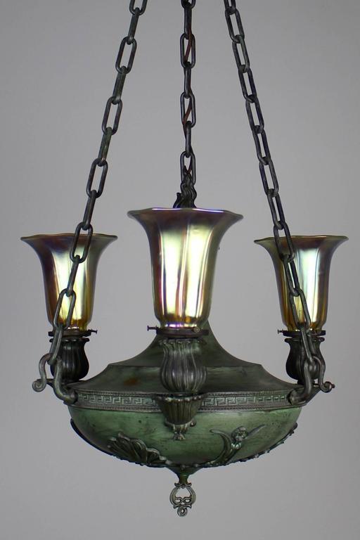 Beardslee Greek Revival Sanctuary Fixture With Art Glass