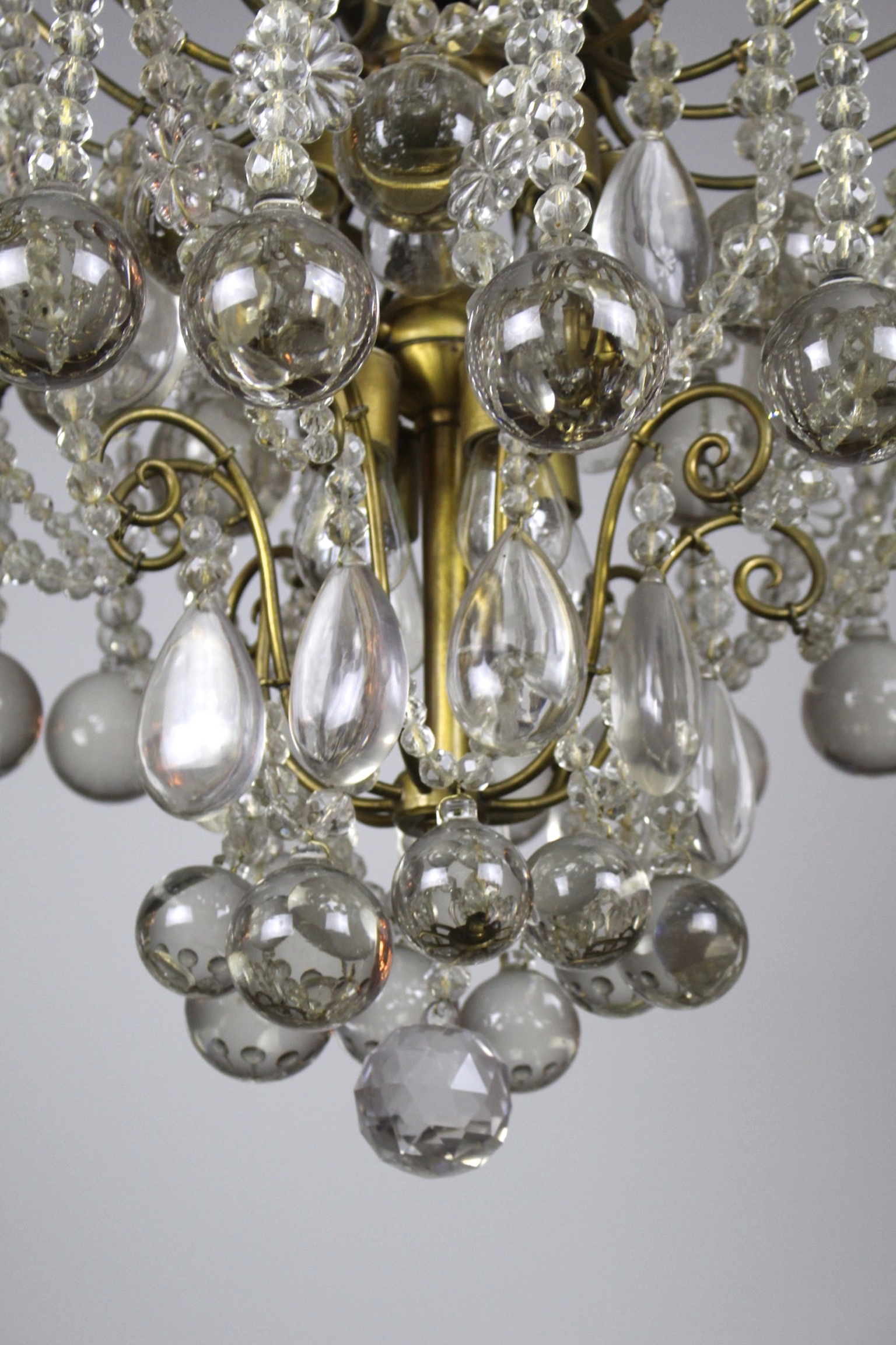 Crystal Chandelier By E F Caldwell