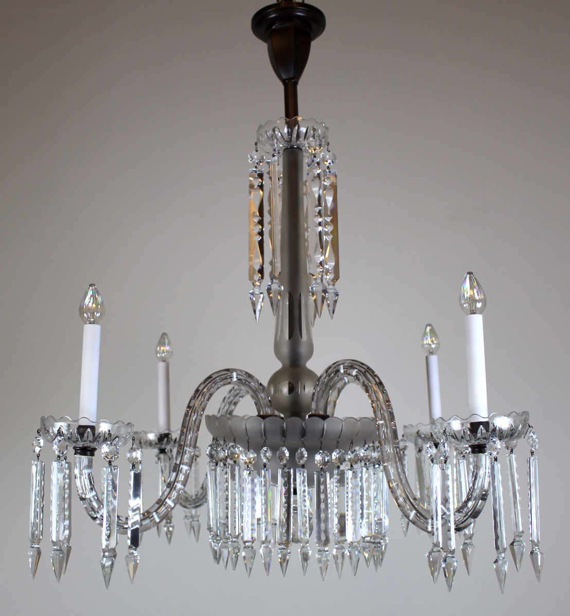 See more: Antique Ceiling Lights, Antique Chandeliers, Antique Lighting,  Featured Items, Latest Antiques. - 4 Arm Victorian Crystal Chandelier. |