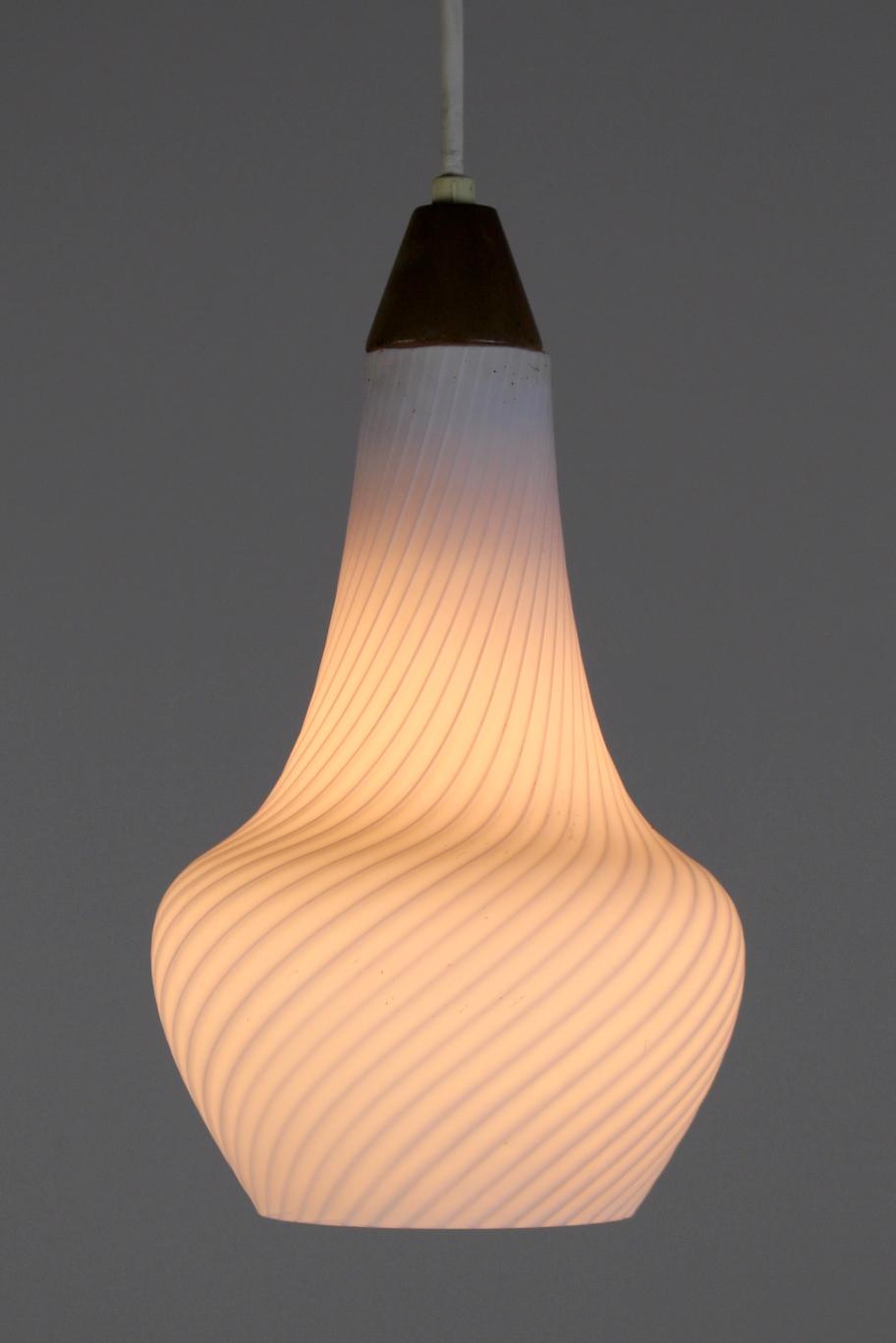 Mid Century Pendant Lights Pair